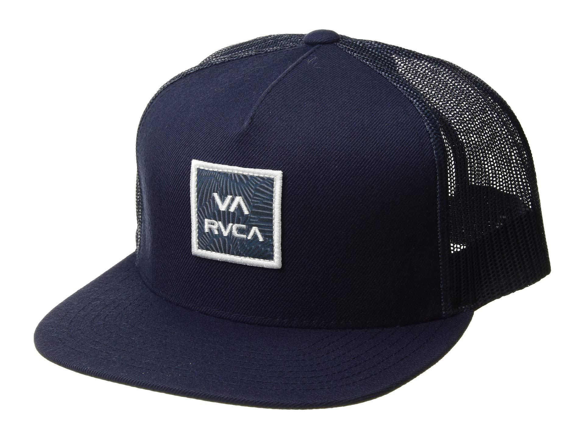Lyst - RVCA Va All The Way Printed Trucker (navy) Caps in Blue for Men b3a12395cfe3