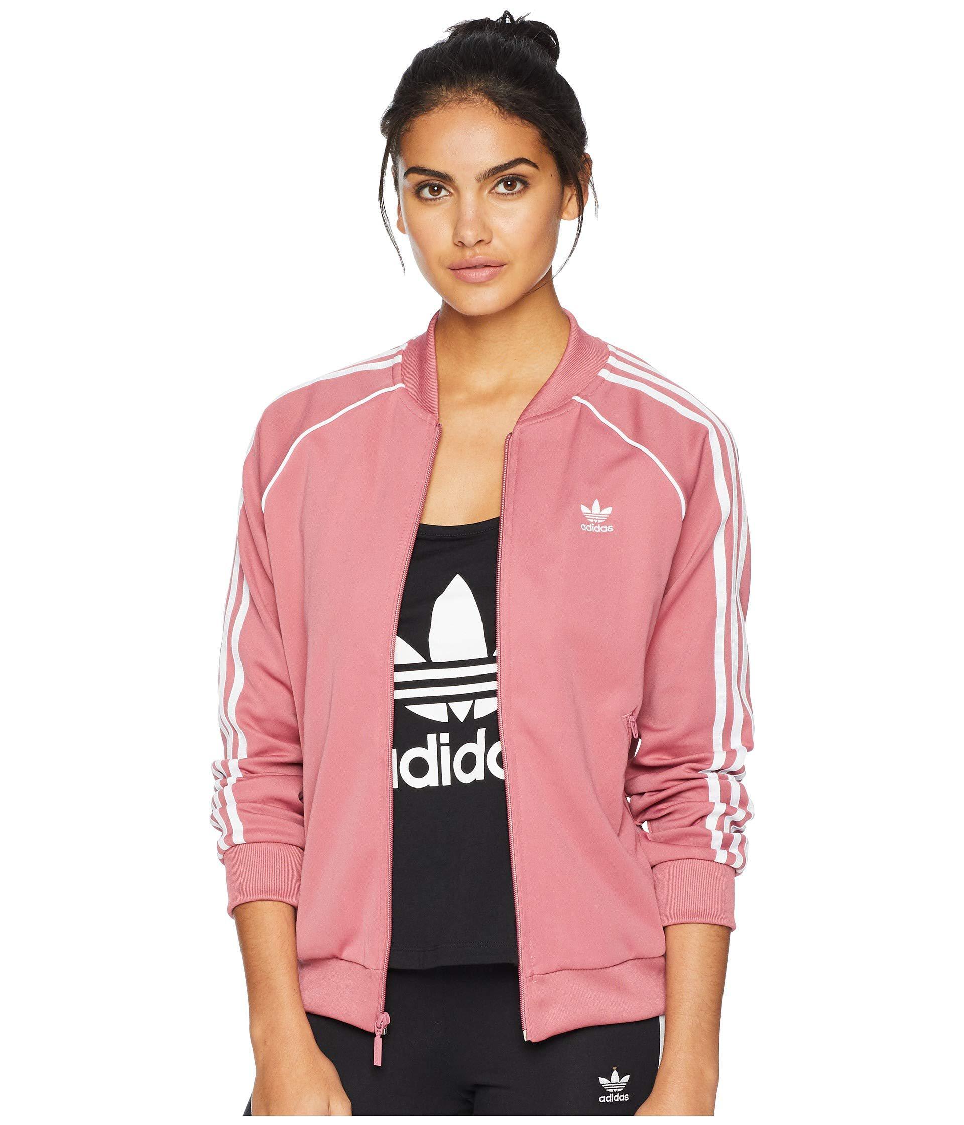 Lyst - adidas Originals Sst Track Jacket (black) Women s Coat in Pink a5847e4cc