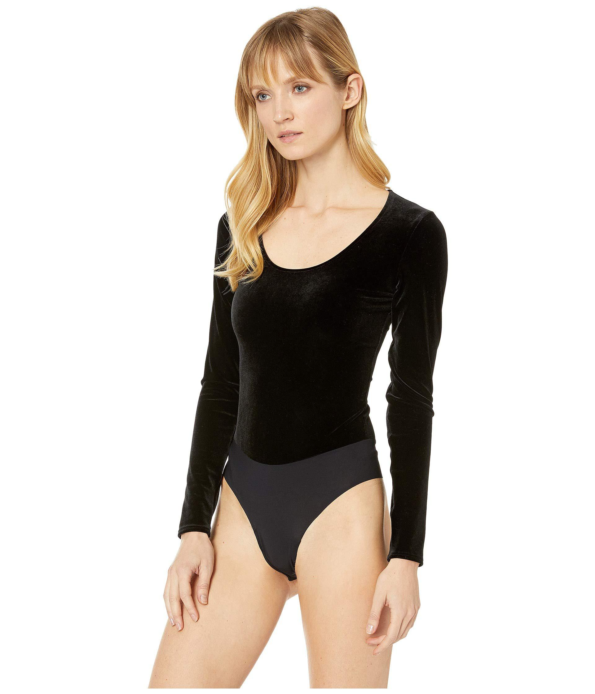 Lyst - Commando Velvet Long Sleeve Bodysuit Bds023 (black) Women s Jumpsuit    Rompers One Piece in Black 7b49d1564