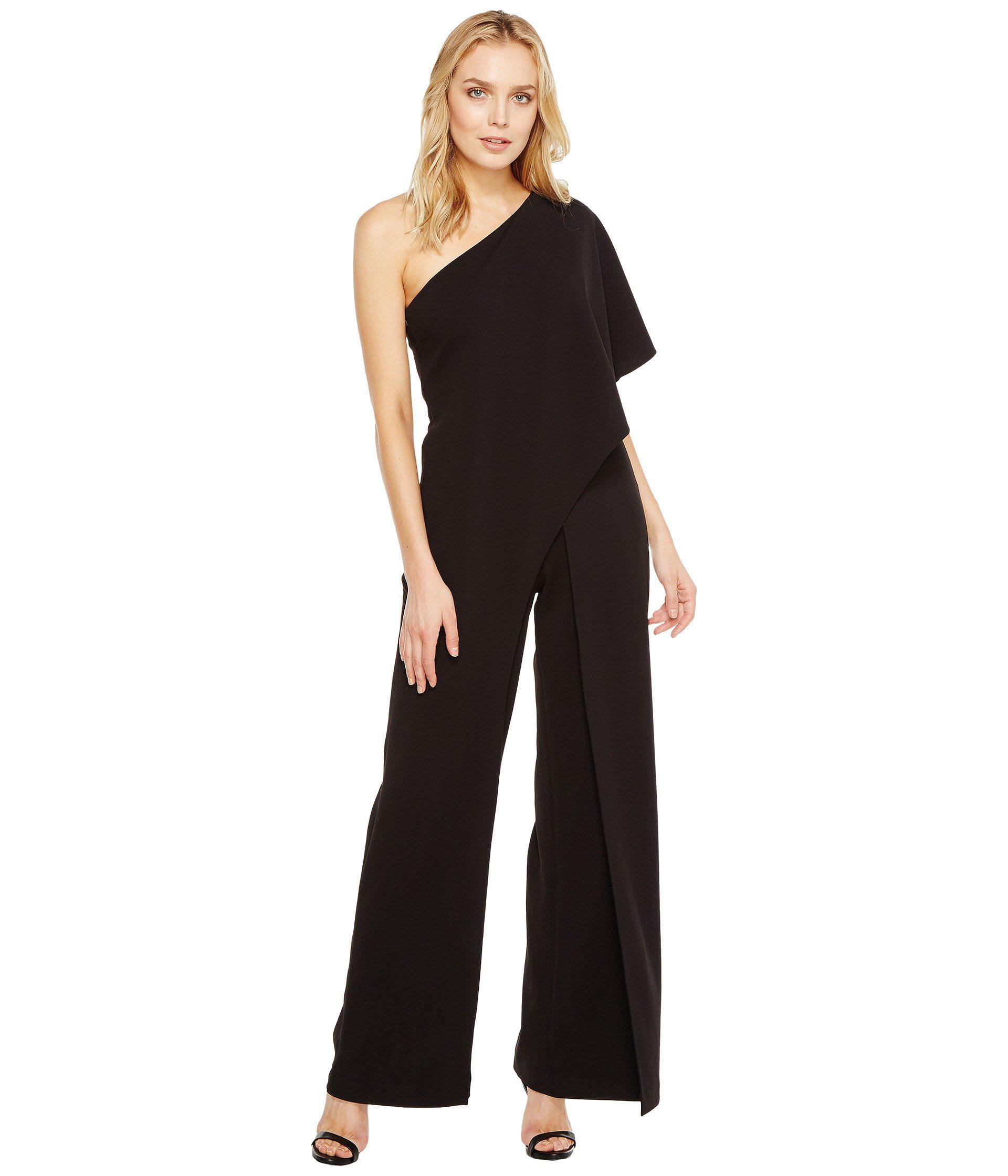 ec7955a7f01b Lyst - Adrianna Papell One Shoulder Jumpsuit (black) Women s ...