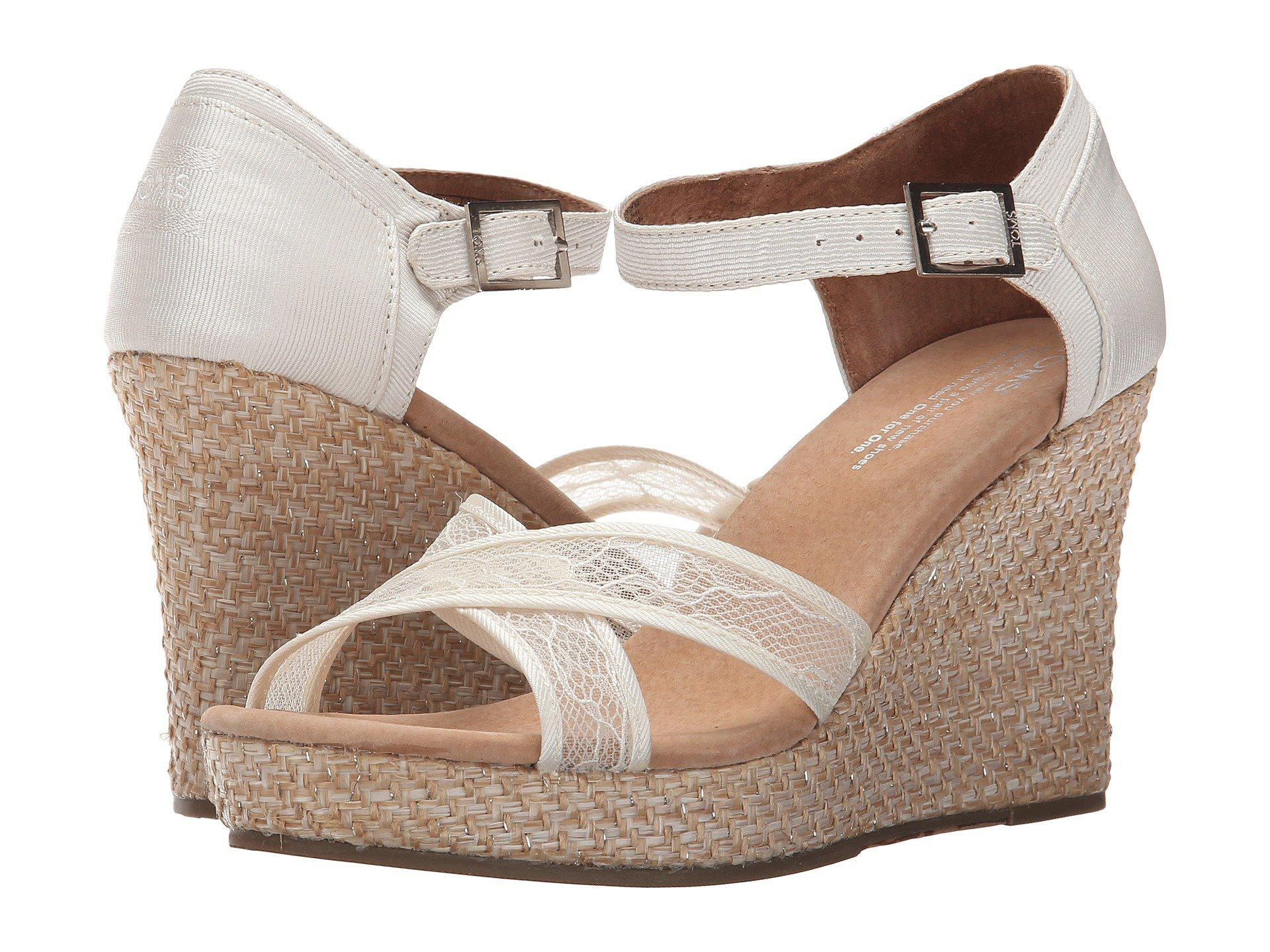 c96311ca349 Lyst toms wedding wedge jpg 1920x1440 Toms wedges shoes for wedding