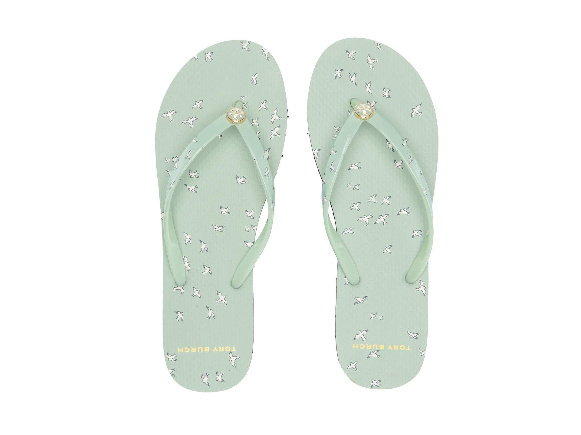 dcc0ed60e159 Tory Burch - Green Printed Thin Flip-flop (mint Early Bird) Women s Sandals.  View fullscreen