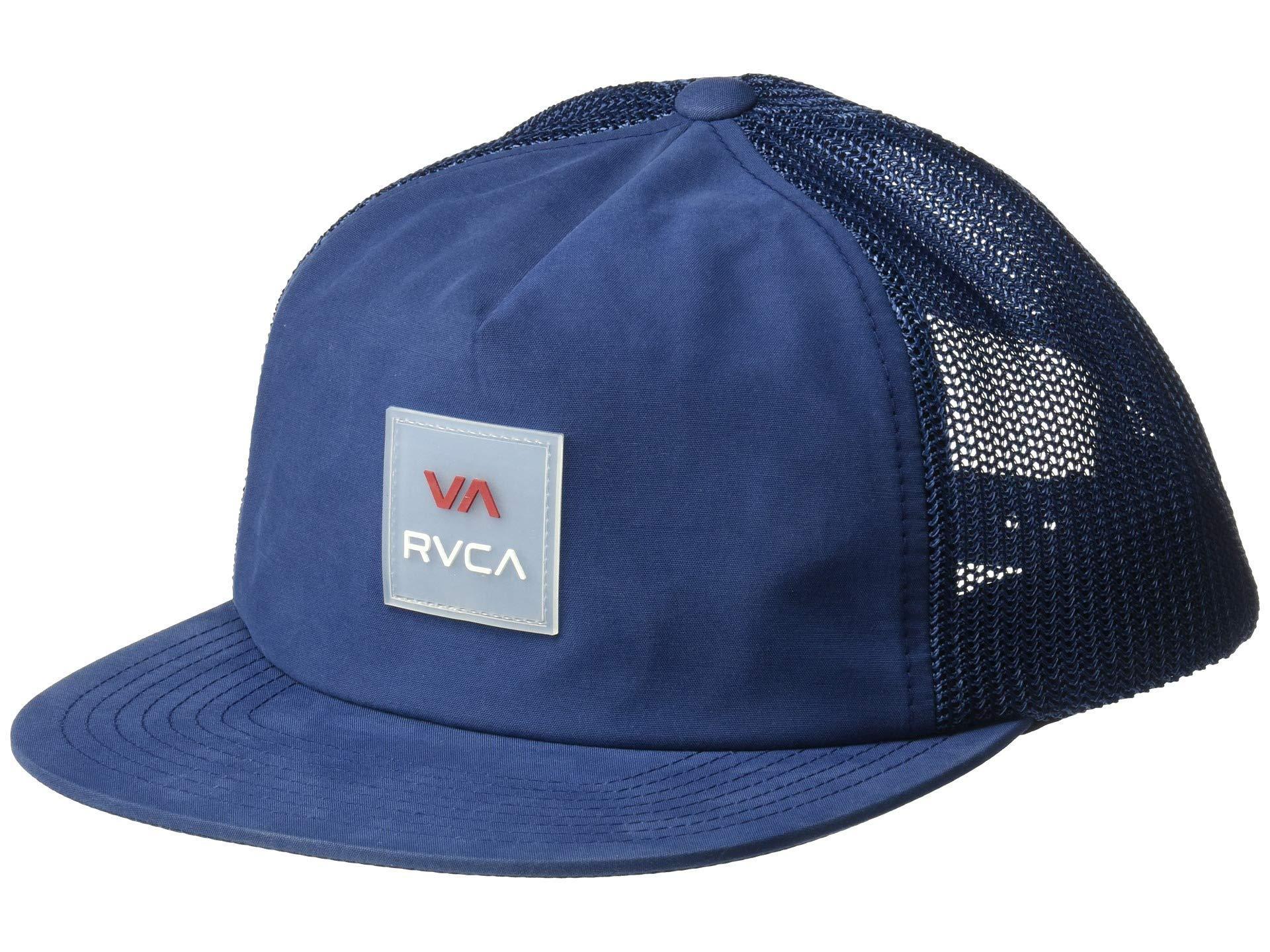 new arrival 9edd6 56b2e RVCA - Blue Va All The Way Trucker (dark Navy) Caps for Men -. View  fullscreen