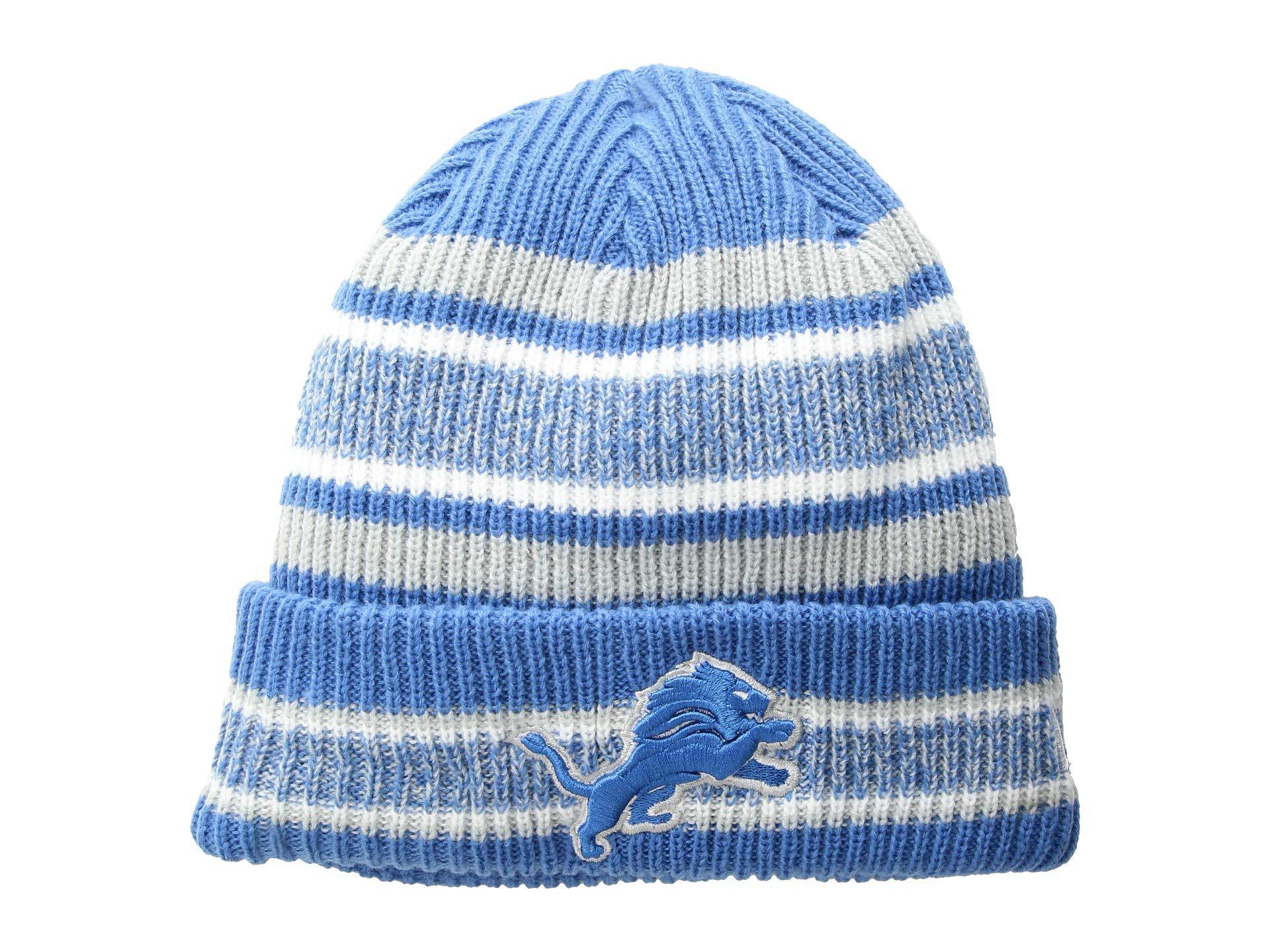 69b48ddc2d2 Lyst - Ktz Detroit Lions Vintage Stripe (blue) Baseball Caps in Blue ...