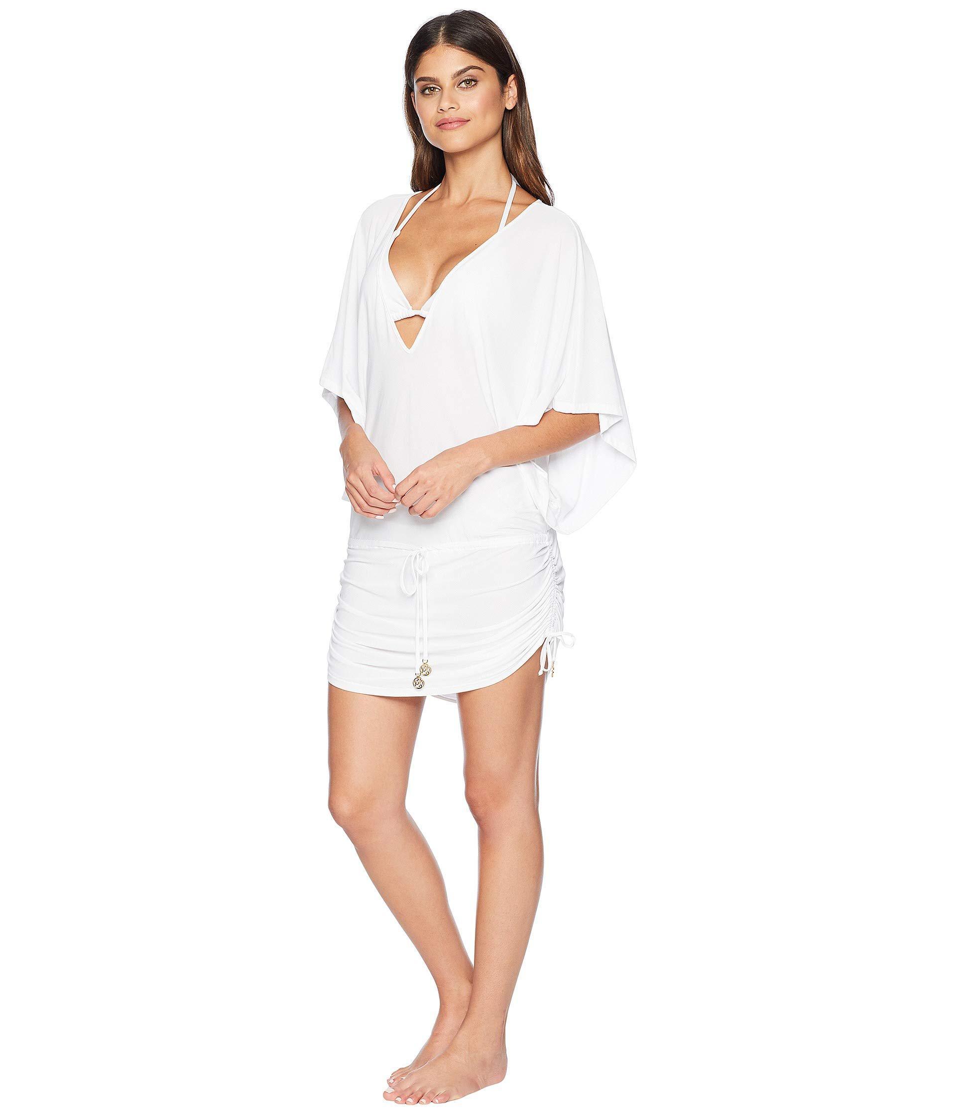 55ce951d5a Lyst - Luli Fama Cosita Buena Cabana V-neck Dress Cover-up (black) Women's  Swimwear in White