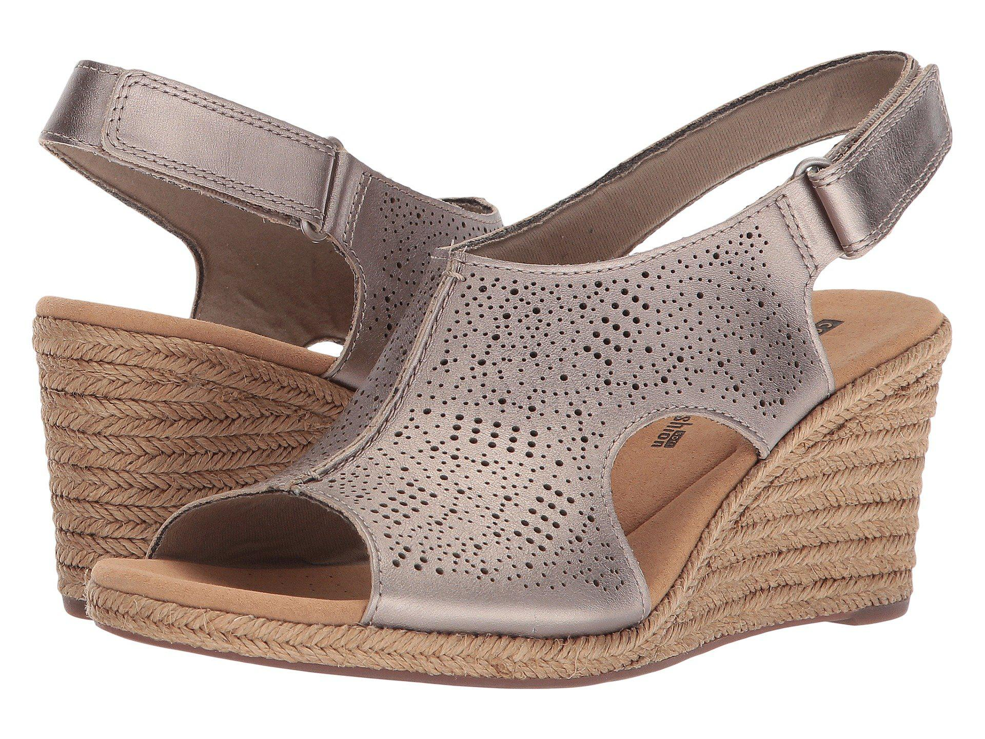 d3f87c04f6c Lyst - Clarks Lafley Rosen (sand Leather) Women s Wedge Shoes
