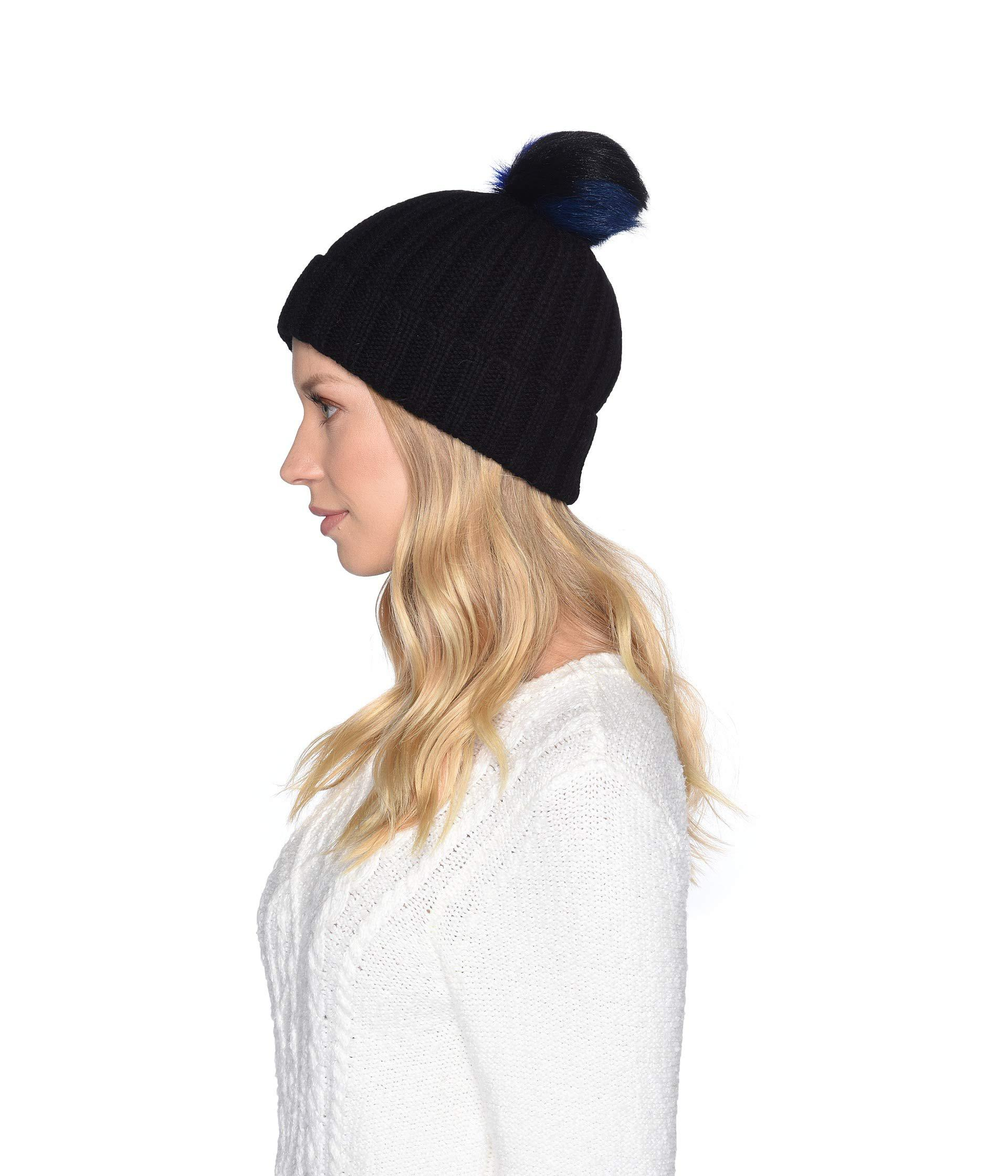 Lyst - UGG Multicolored Sheepskin Pom Knit Hat (black Multi) Caps in Black ca3771e0fbd