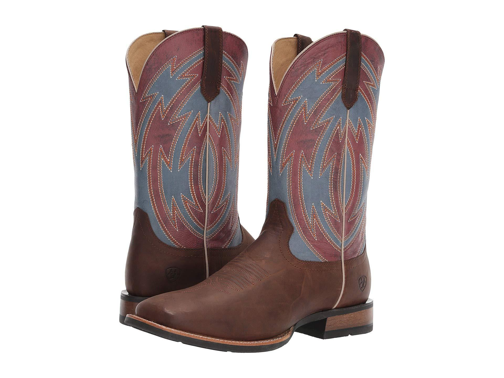 f8d8854fa13 Ariat - Multicolor Crossdraw (ox Blood/blue Fireball) Cowboy Boots for Men  - Lyst