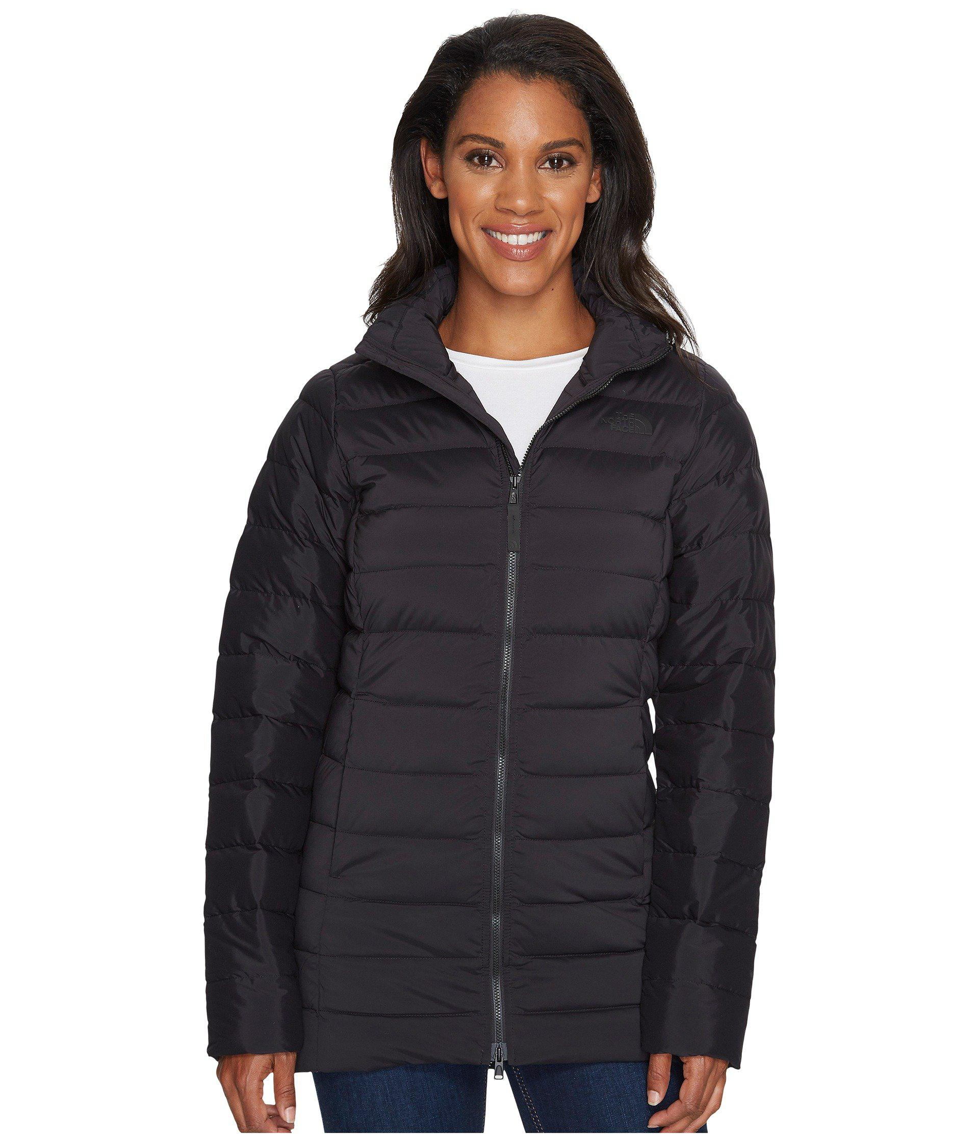 Lyst - The North Face Stretch Down Parka (asphalt Grey) Women s Coat ... e48c6bae2