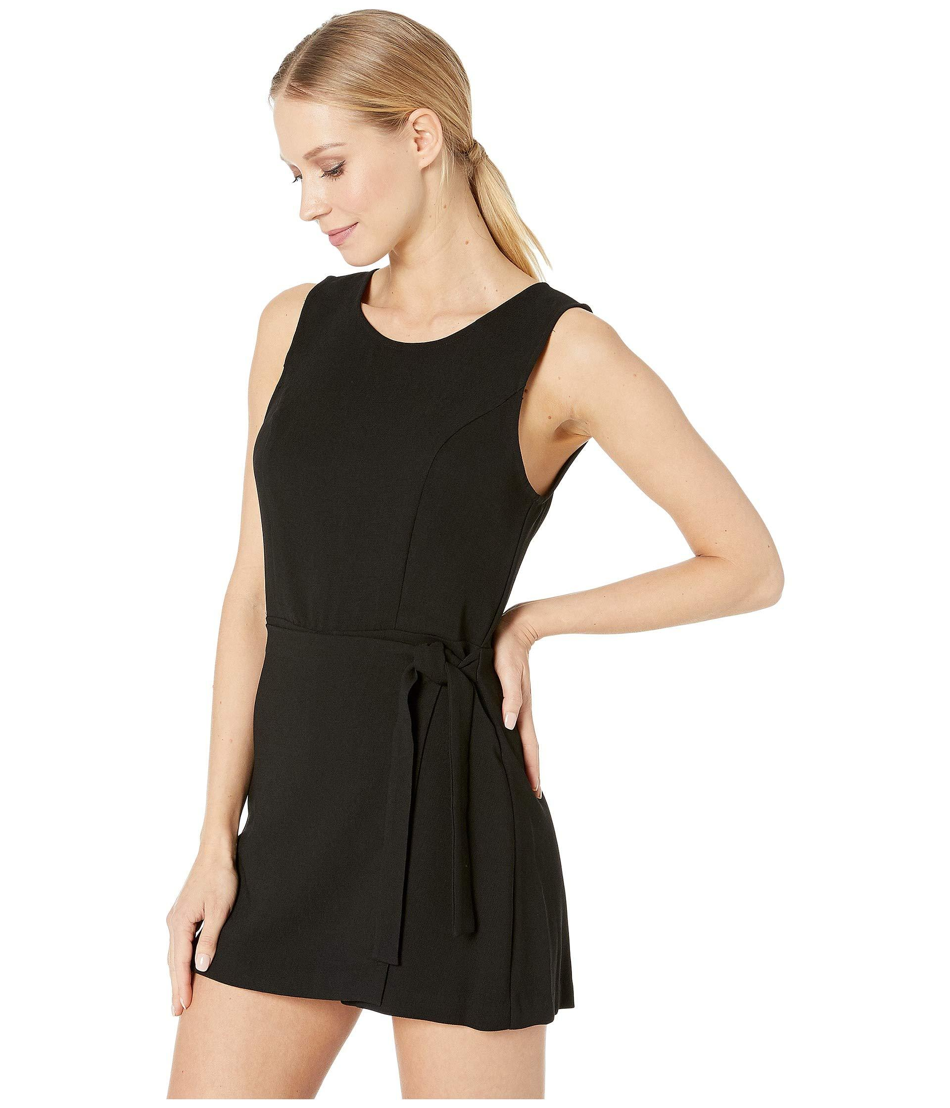 21162325804 Lyst - BCBGeneration Front Overlap Sleeveless Woven Romper (black) Women s  Jumpsuit   Rompers One Piece in Black