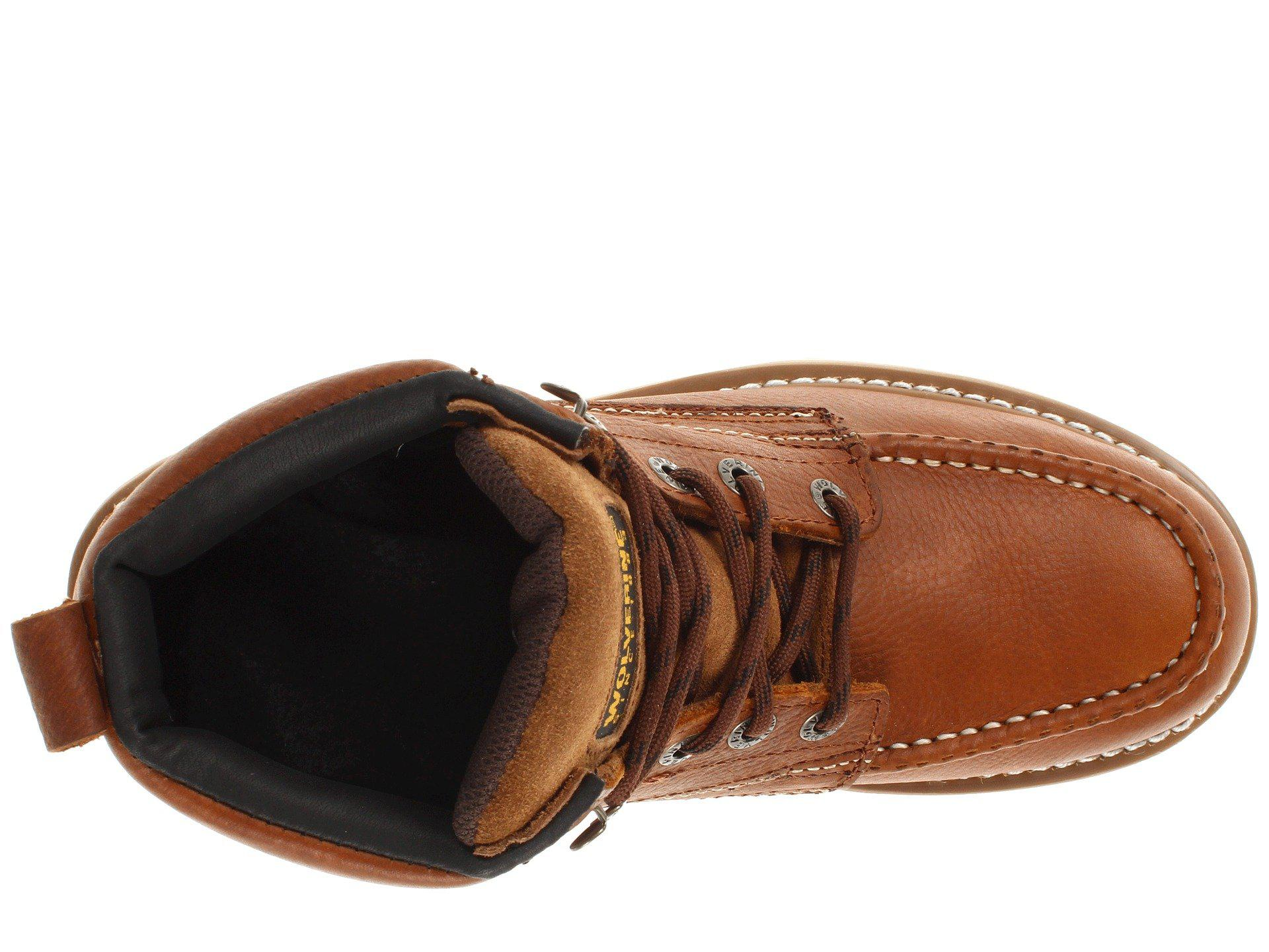 102f1d9f419b Wolverine - Moc Toe Wedge (brown) Men s Work Boots for Men - Lyst. View  fullscreen