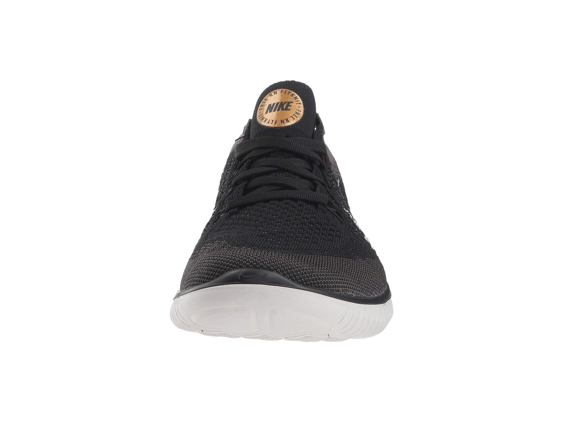 cdd68b6103 Nike Free Rn Flyknit (black/vast Grey/metallic Gold) Women's Shoes ...