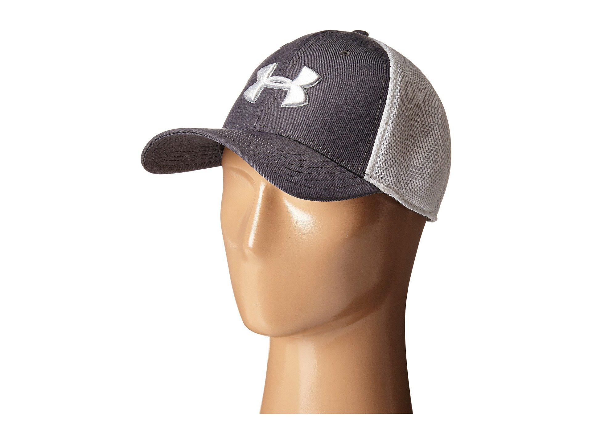 dd968318761 Lyst - Under Armour Ua Golf Mesh Stretch 2.0 Cap in Gray for Men