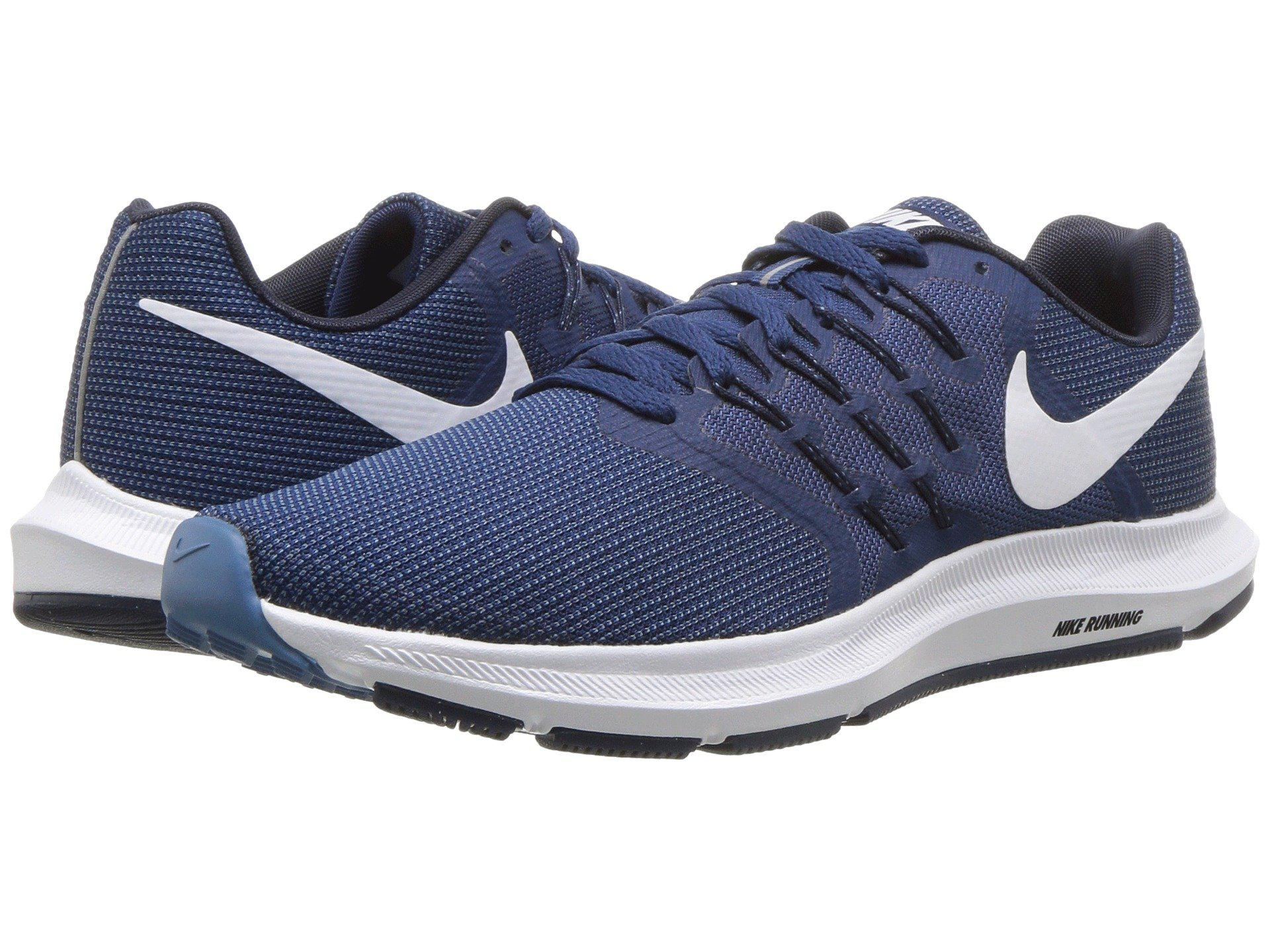 280a132bad63f ... 50% off lyst nike run swift black black womens running shoes in blue  1abfc 3dfc1