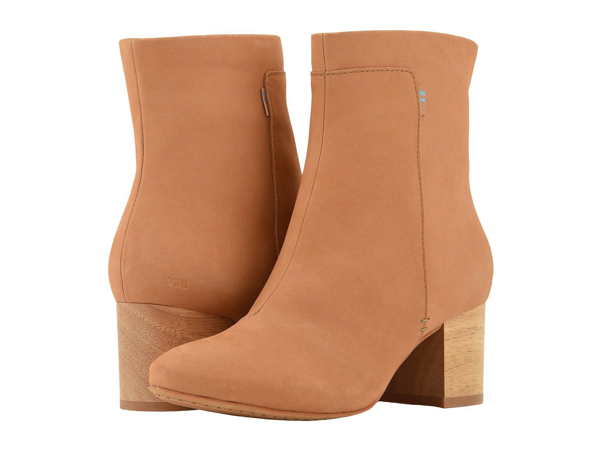 e11e38c32d5f TOMS. Brown Evie (desert Taupe Embroidered Heritage Canvas) Women s Zip  Boots