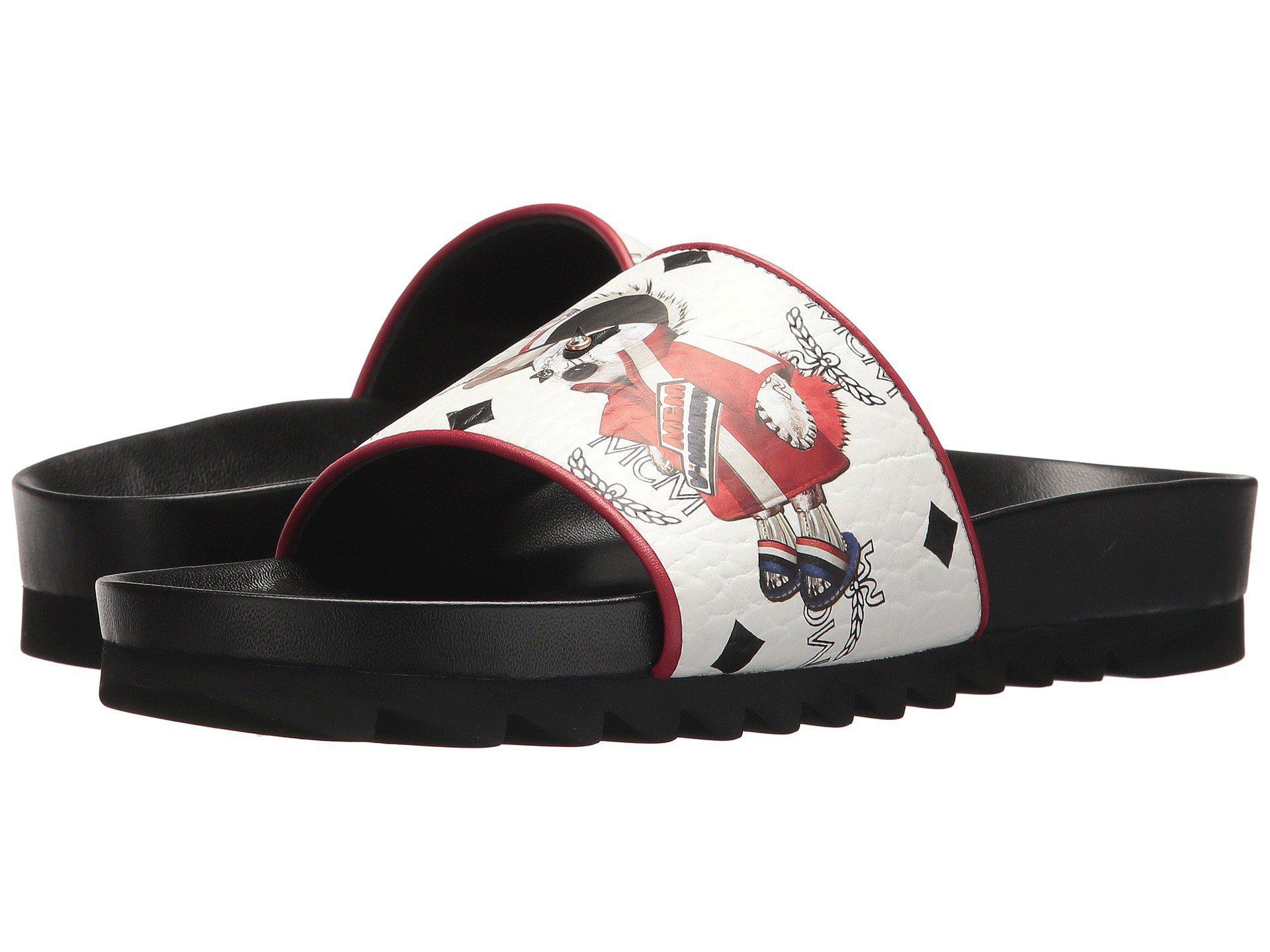 1b44e7070 MCM Rabbit Viseto Slide Sandal in White - Lyst