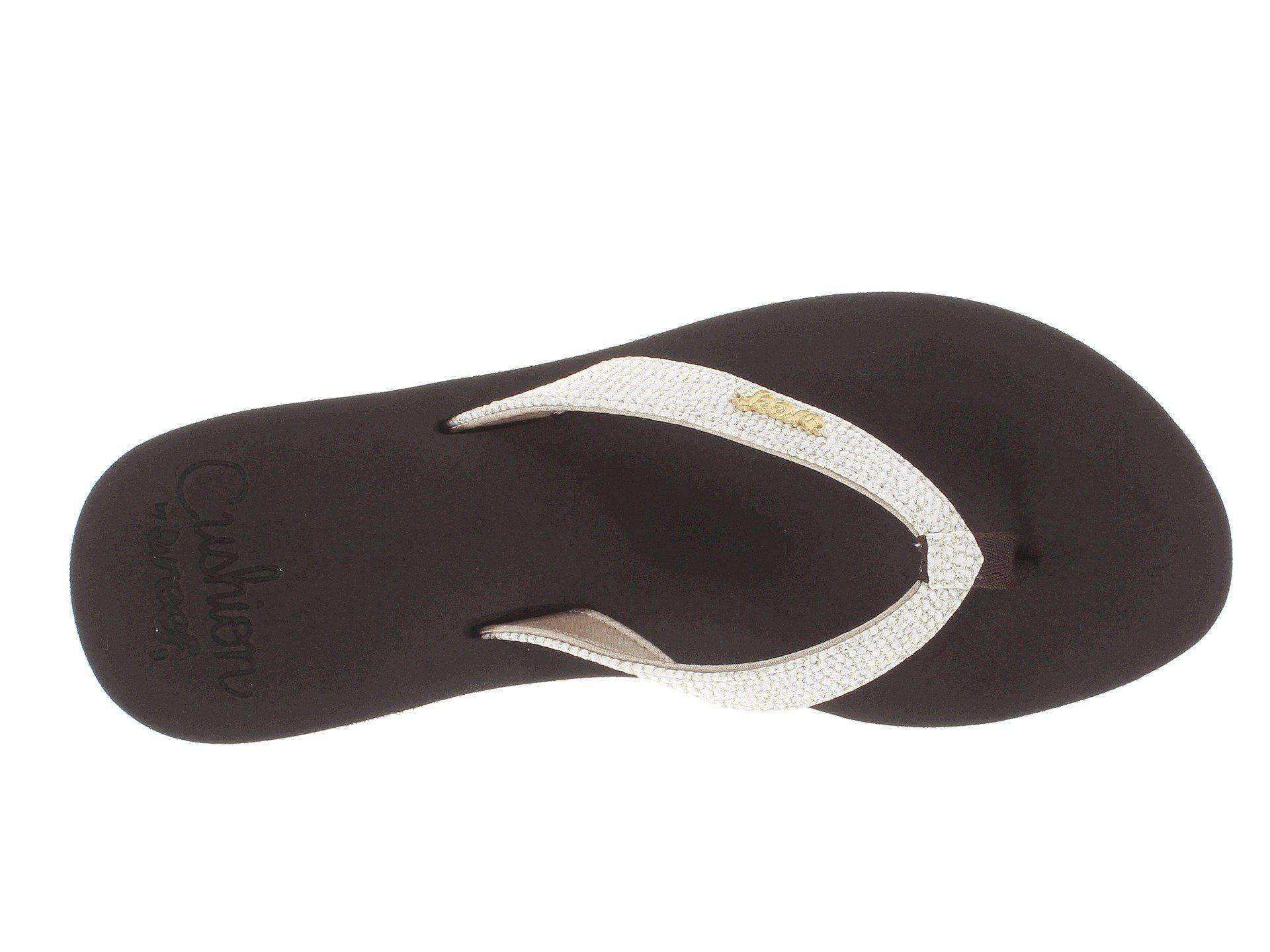 1870c1ab7100 Reef - Brown Star Cushion Sassy (black silver) Women s Sandals - Lyst. View  fullscreen