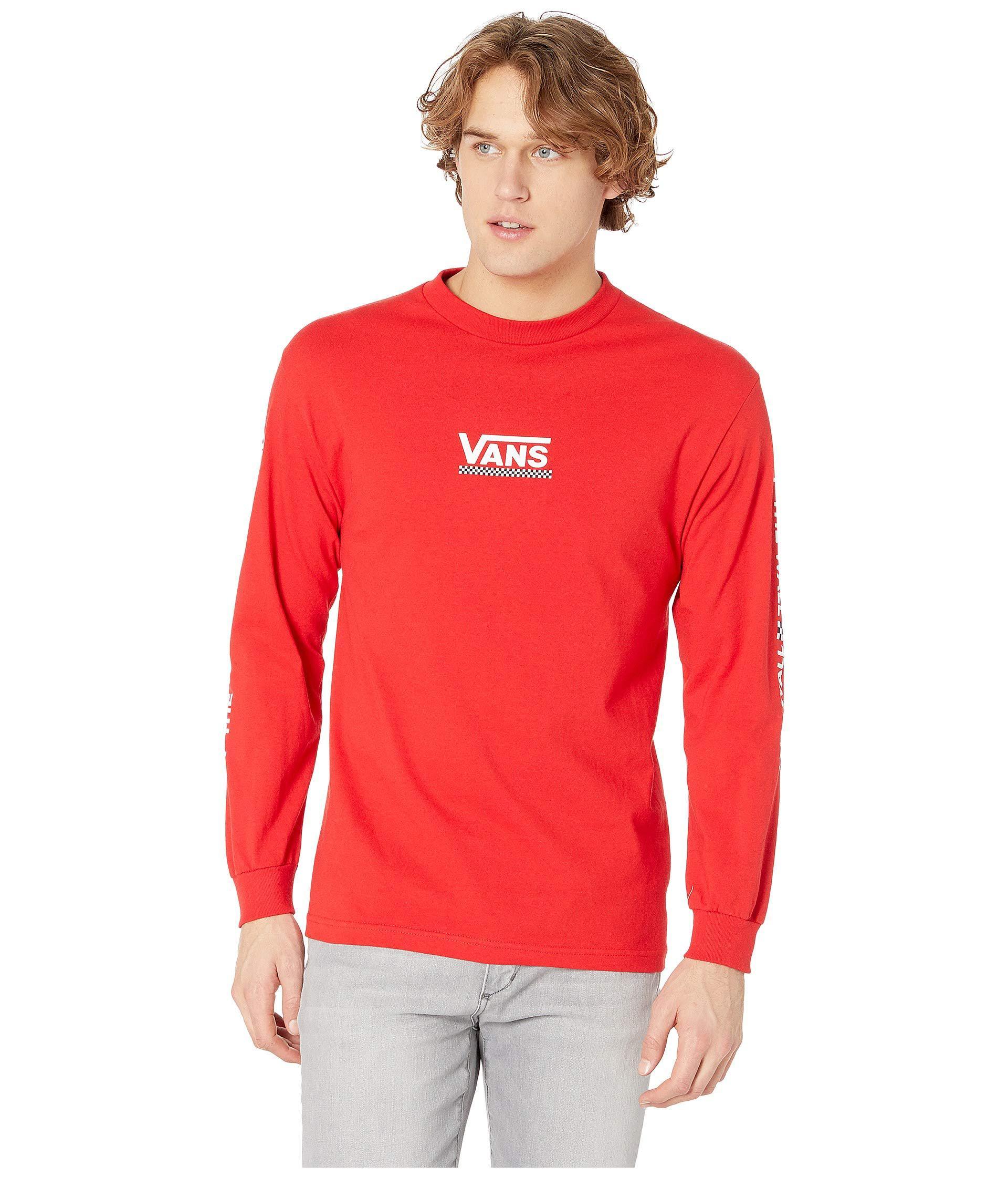 3e57da317621 Lyst - Vans Checkmate Iii Long Sleeve T-shirt (racing Red) Men's ...