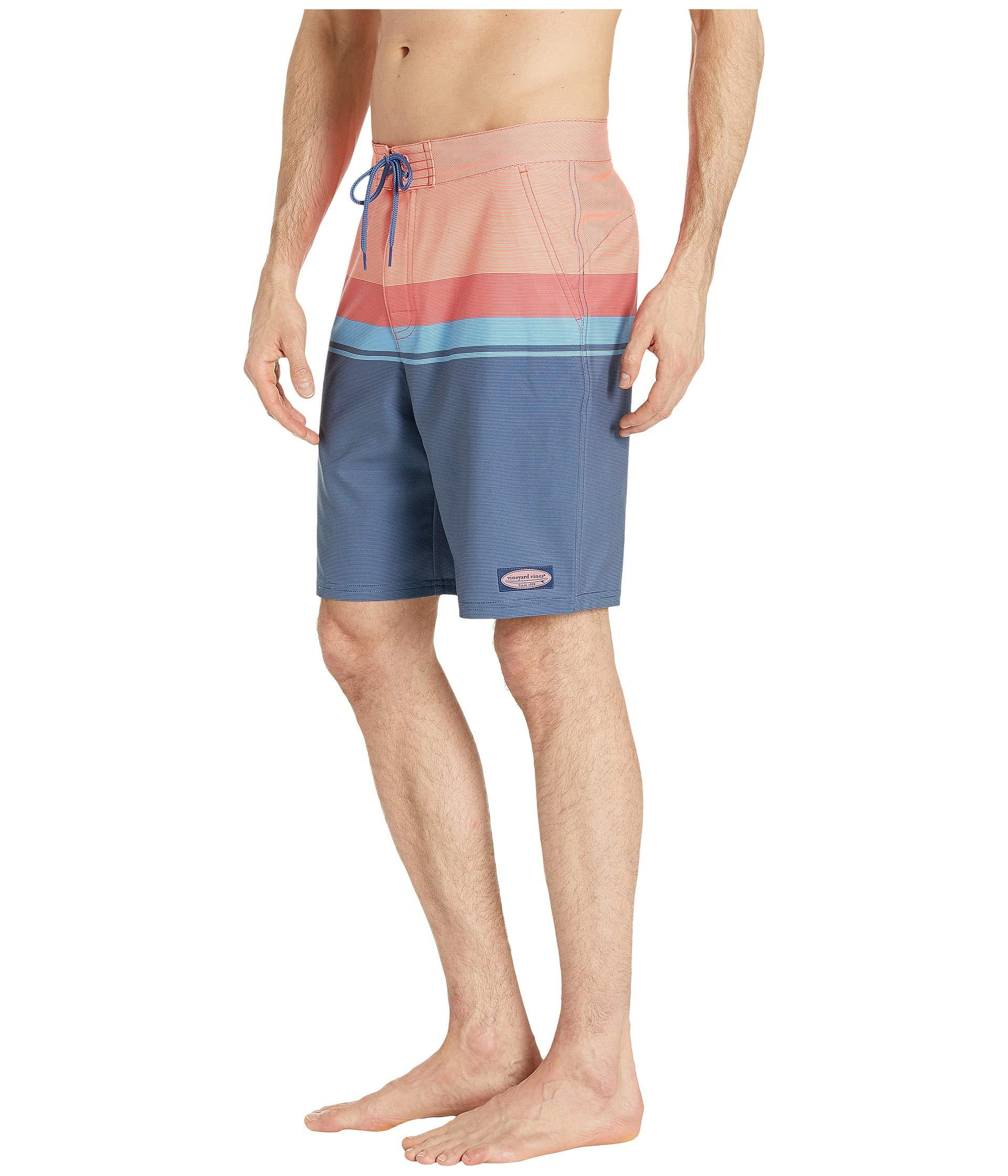 638a7ca597 Vineyard Vines Striped Boardshorts (mai Tai) Men's Swimwear in Blue for Men  - Lyst