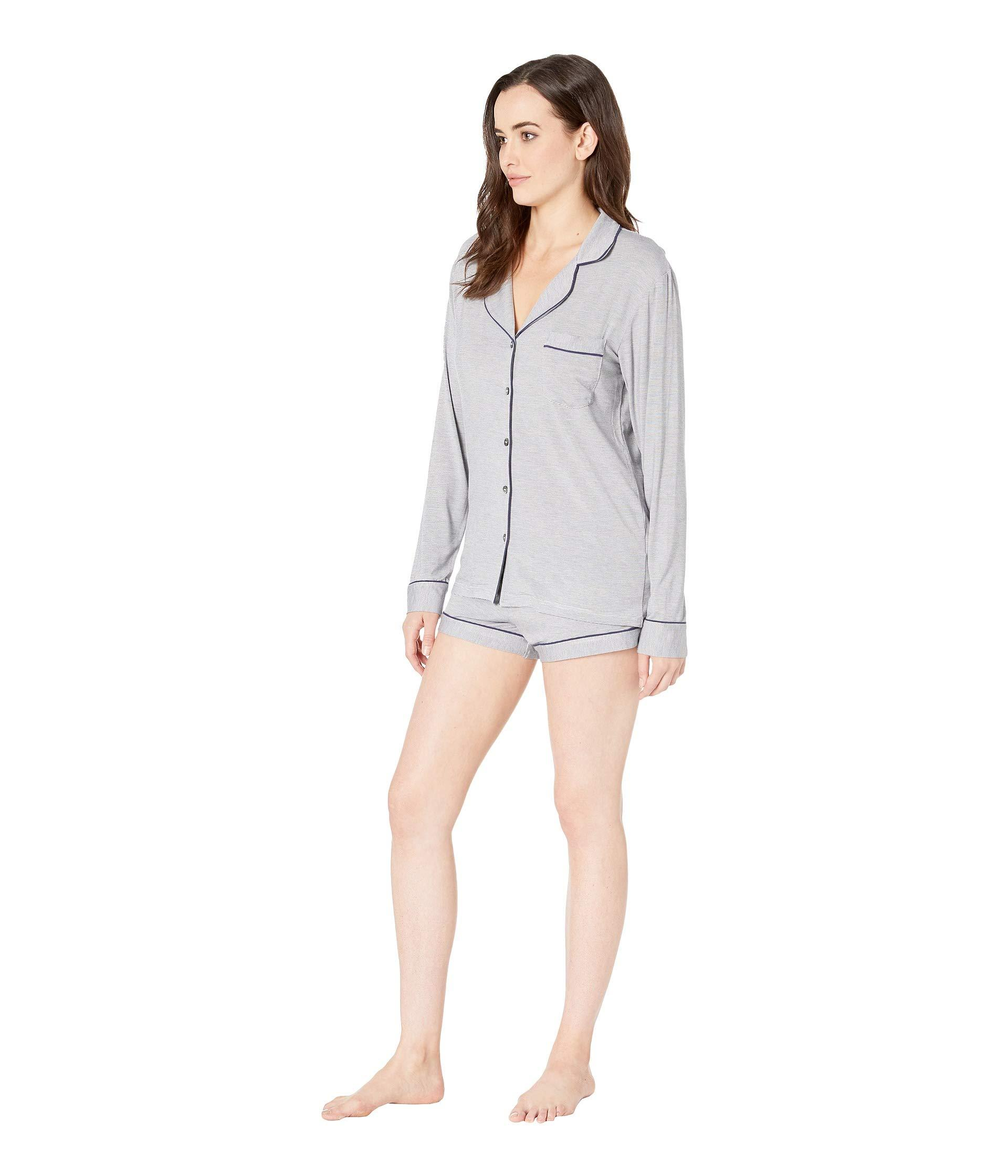 57e0036f1c9 Lyst - UGG Nya Set Mini Stripe Shorts Set (navy cream) Women s Pajama Sets  in Blue