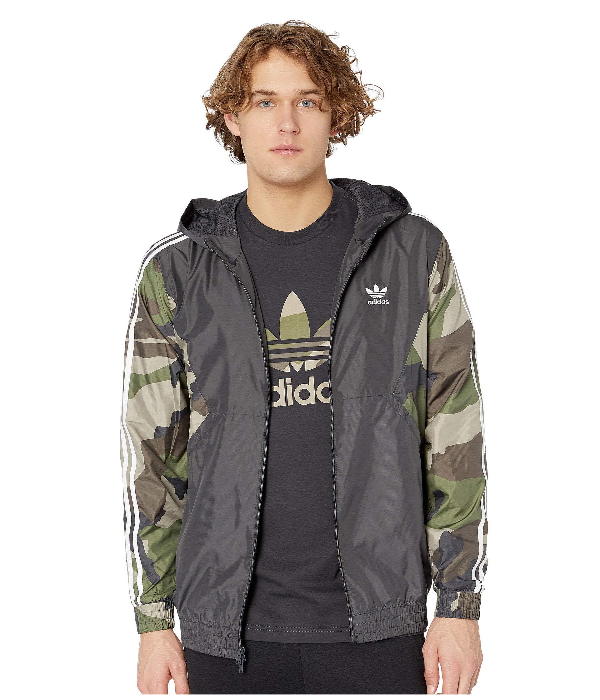 a67aa80d92e Lyst - Adidas Originals Camo Windbreaker (utility Black) Men s Coat ...