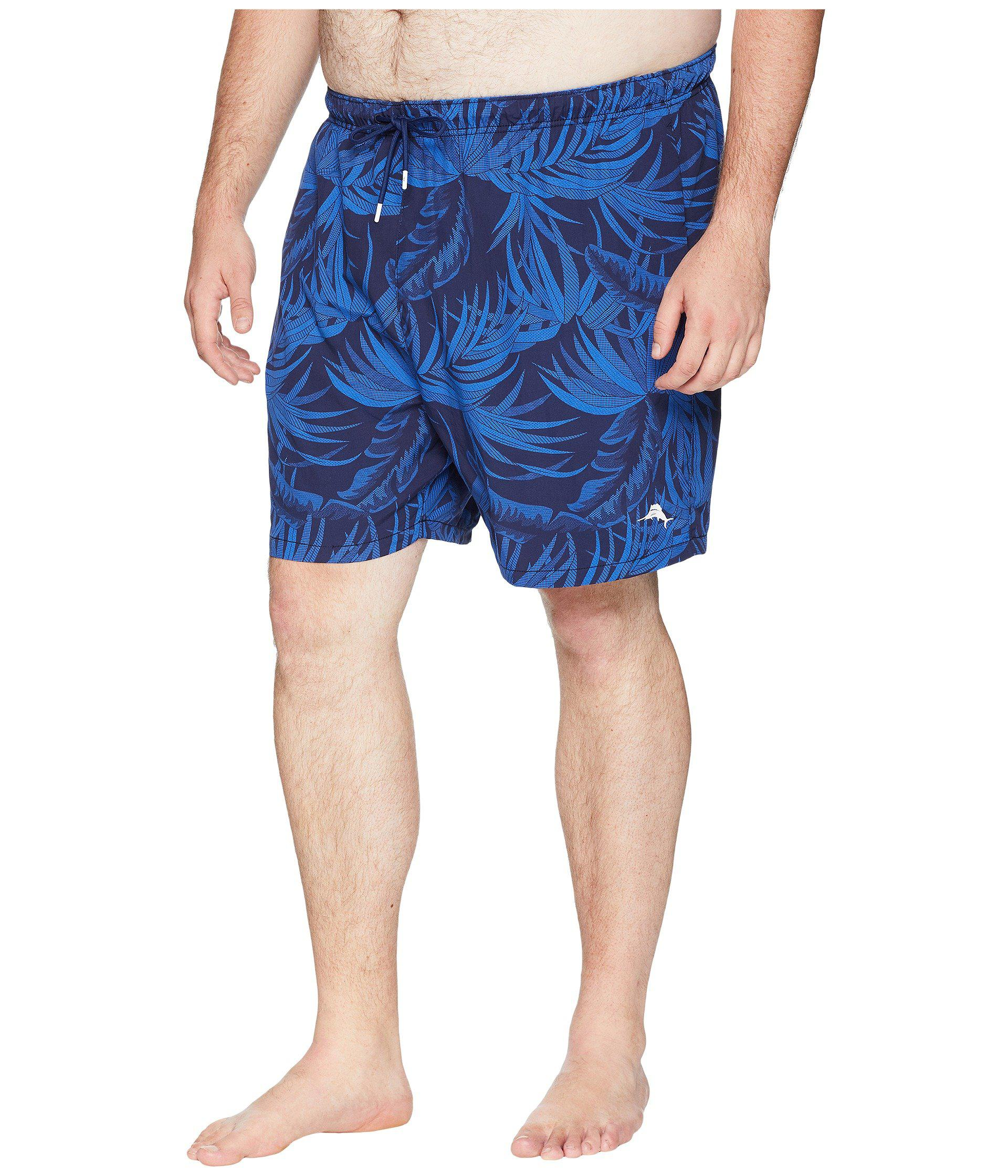 dbba2a3f2c Tommy Bahama. Blue Big Tall Naples Midnight Floral Swim Short (ocean Deep)  Men's ...