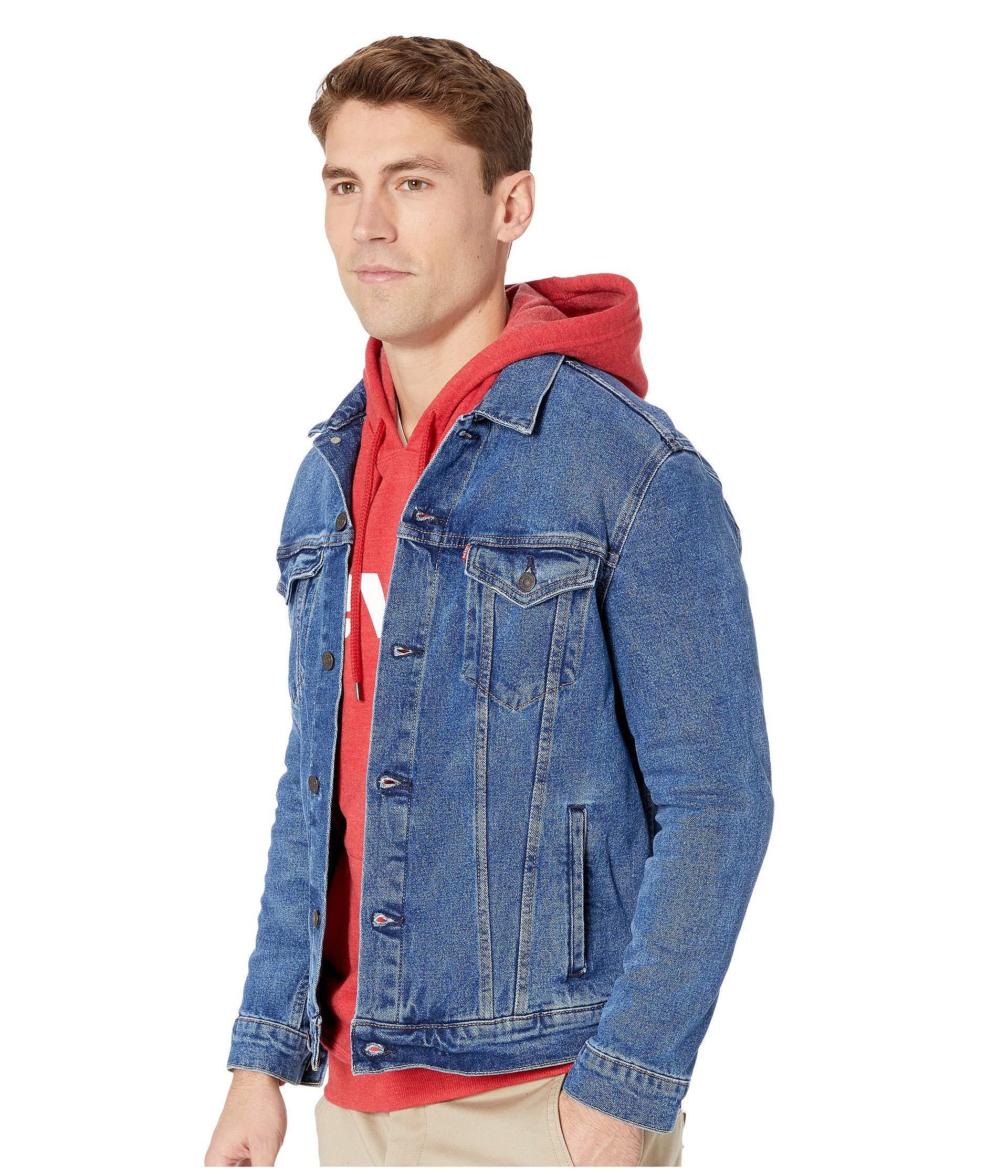 bb01e12f225 Lyst - Levi s Levi s(r) Mens The Trucker Jacket (dark Blue) Men s Jacket in  Blue for Men