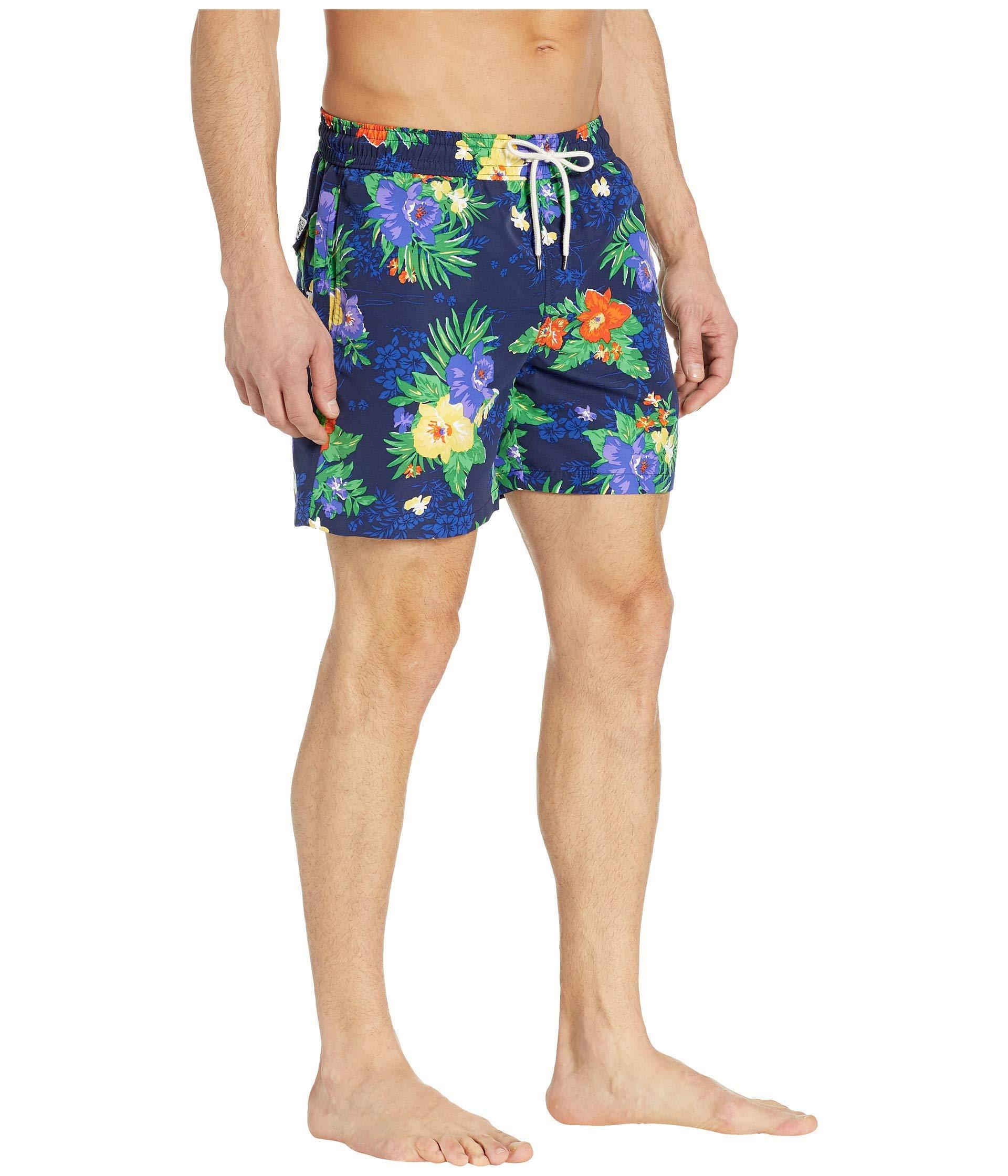 701739ad1e Polo Ralph Lauren - Blue Traveler Swim Trunks (carribean Floral) Men's  Swimwear for Men. View fullscreen
