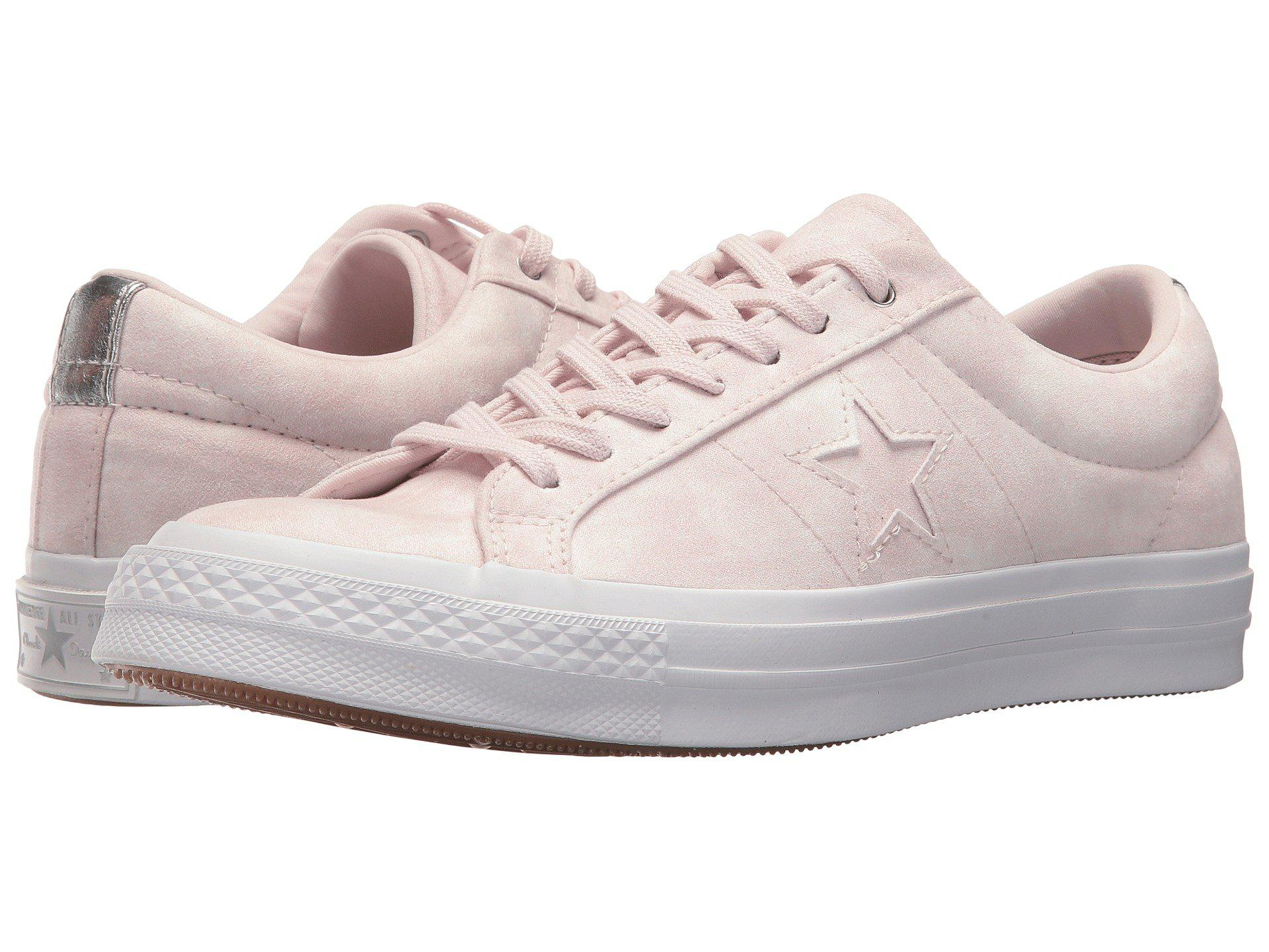 Lyst - Converse One Star® Peached Wash Ox in Pink for Men 2fa3f2a9d