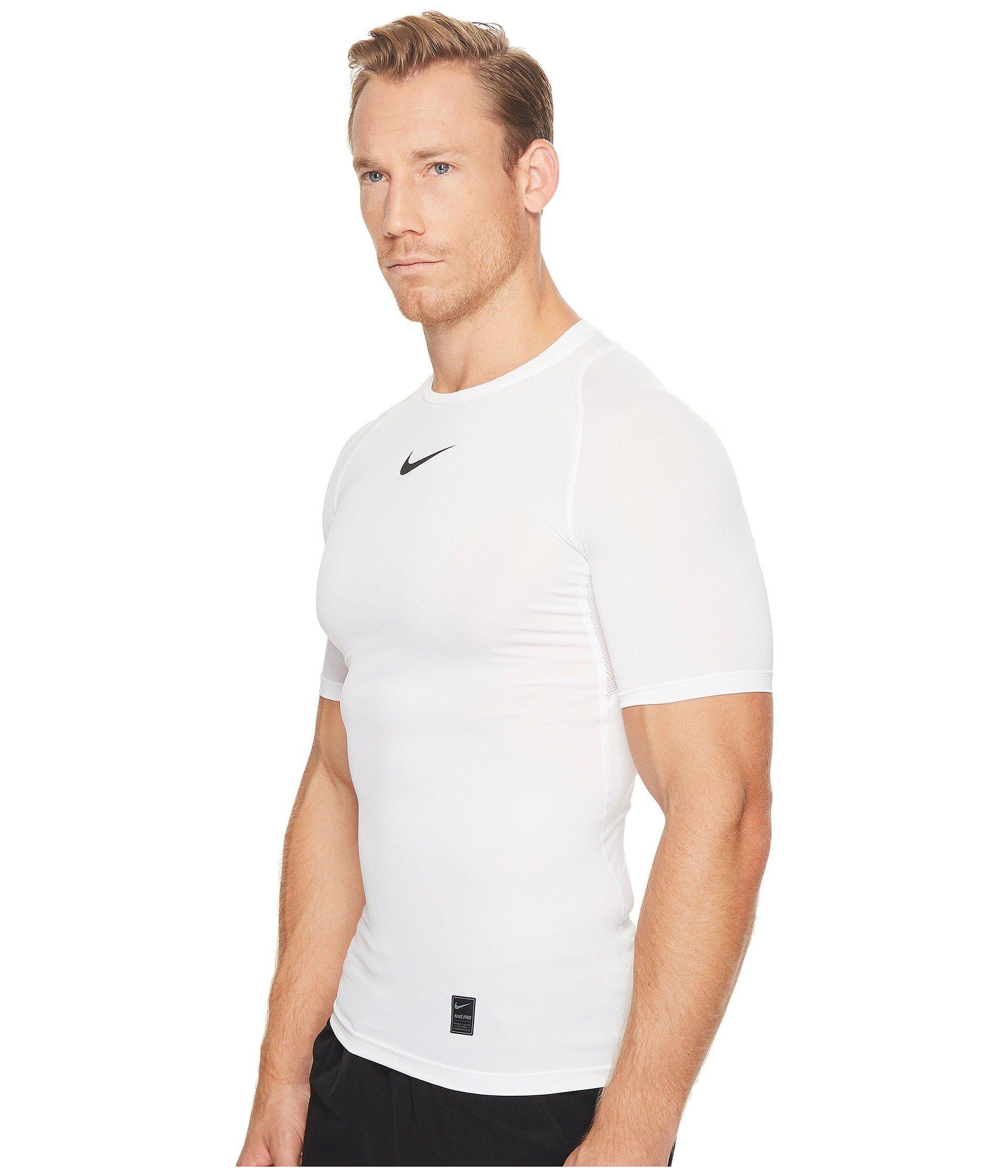 2e1cb412 Lyst - Nike Pro Compression Short Sleeve Training Top (black/white/white)  Men's Short Sleeve Pullover in White for Men