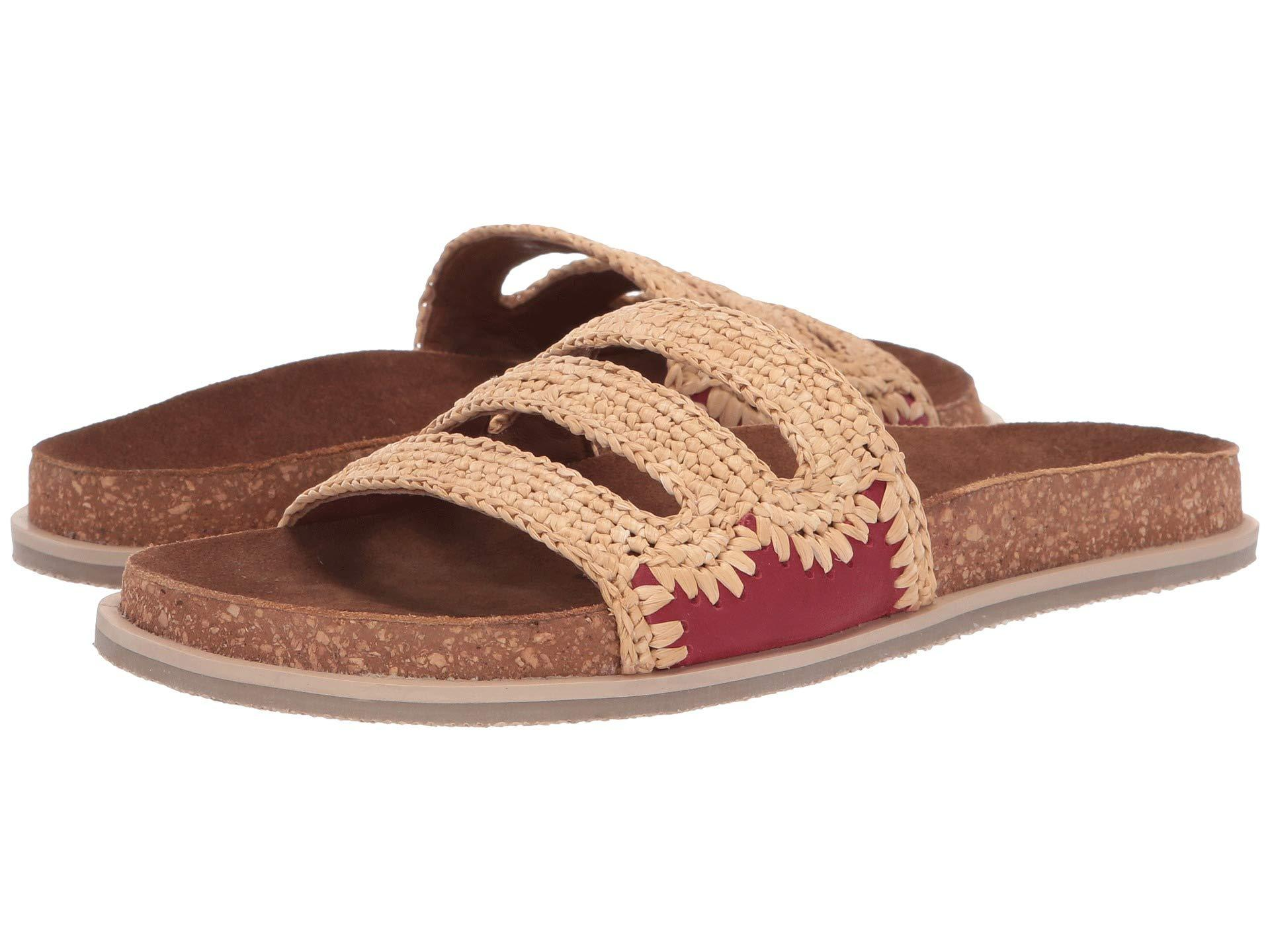 ac740f72032 Lyst - Free People Crete Footbed Sandal (red) Women s Sandals in Red