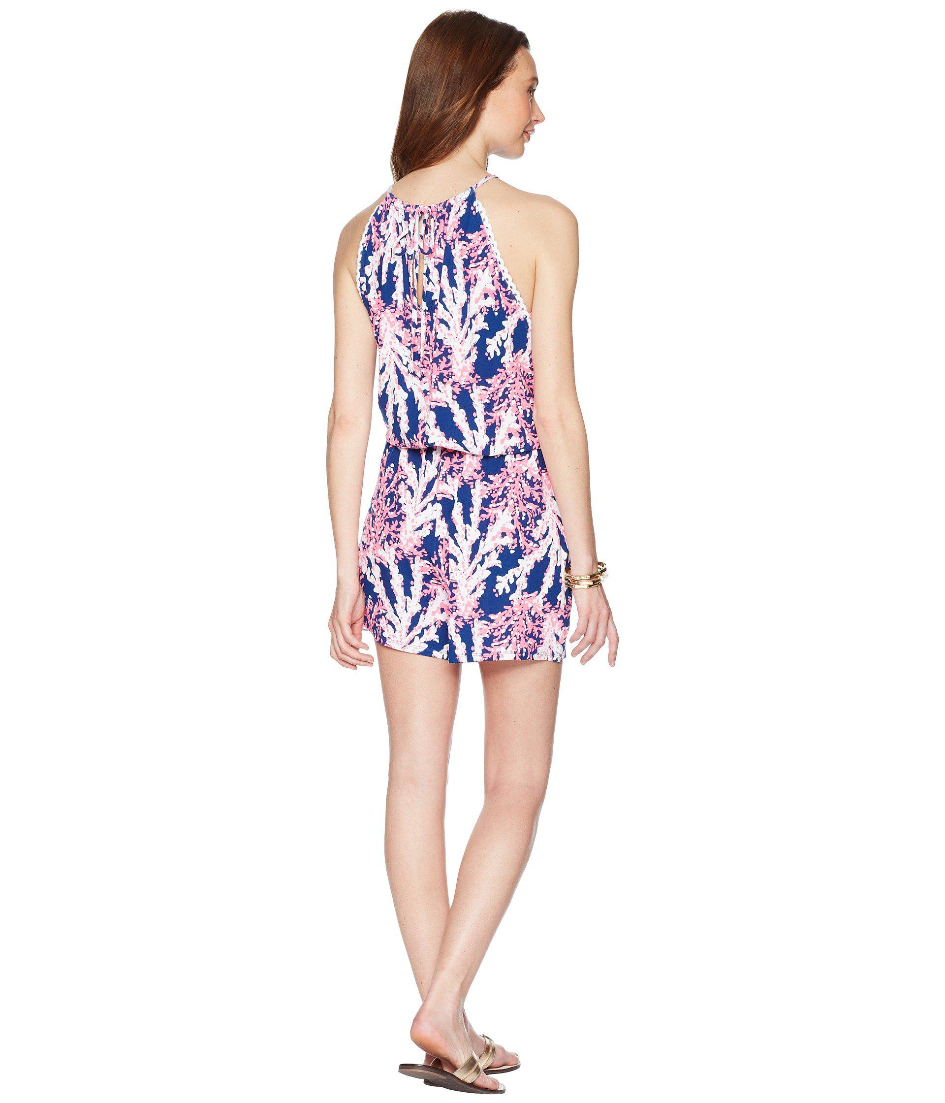 d69cb44caab Lyst - Lilly Pulitzer Gianni Romper (light Lilac Aboat Time) Women s ...
