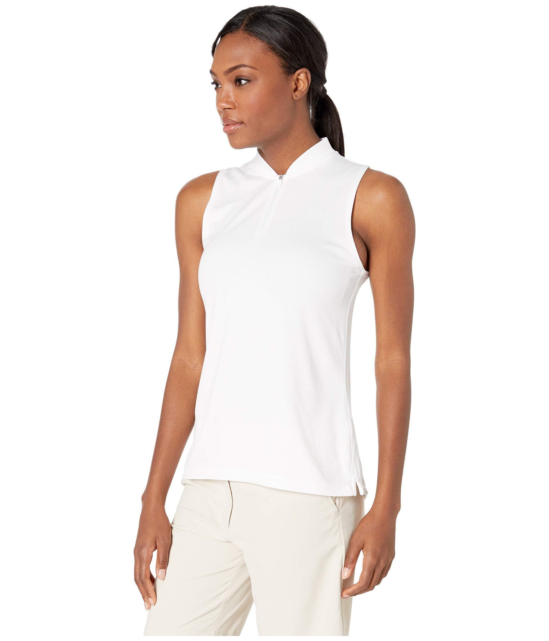 63acc145 Lyst - Nike Dry Polo Sleeveless Blade (black/black/black) Women's Sleeveless  in White