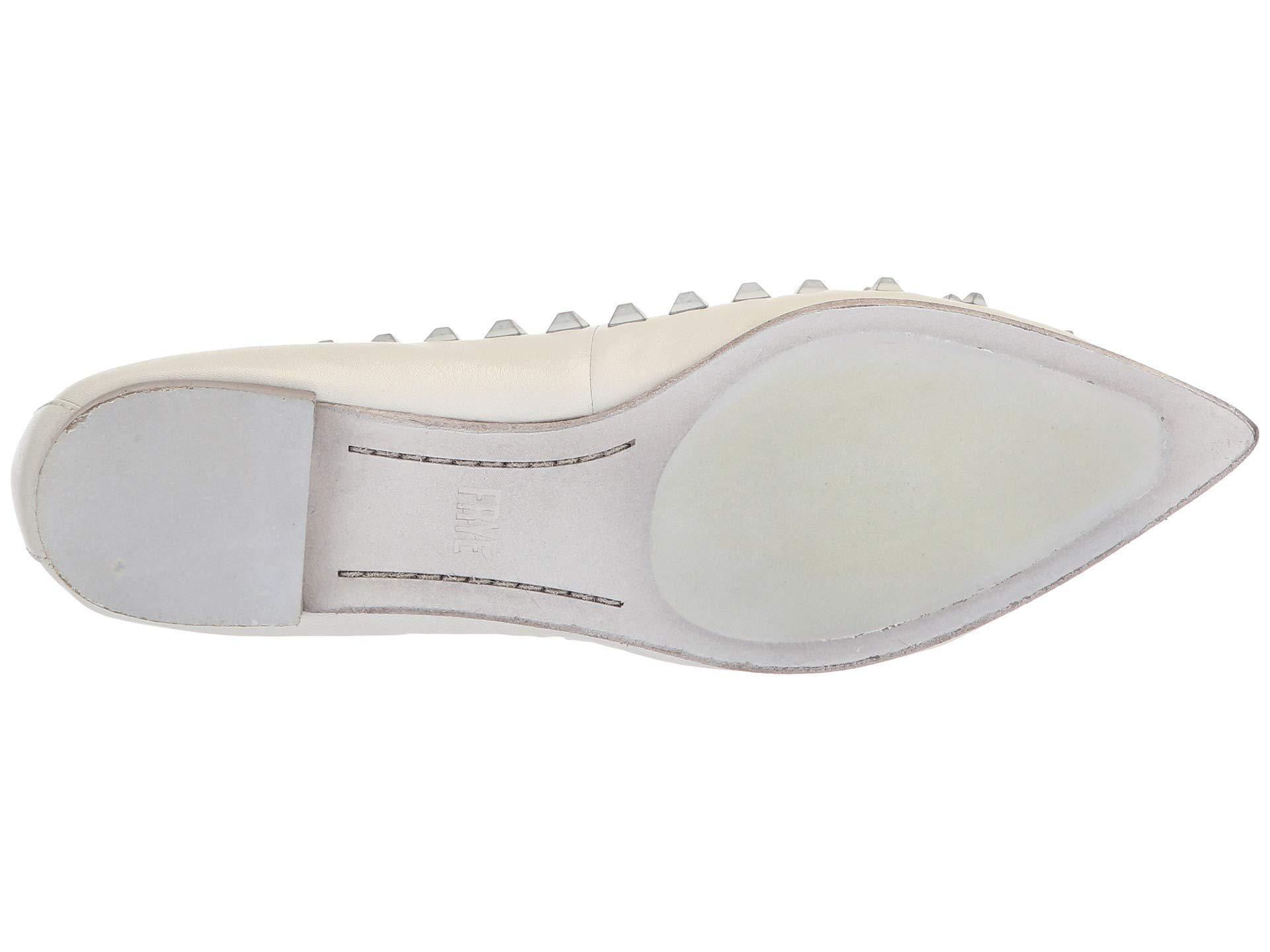 7caac9696 Lyst - Frye Sienna Deco Stud Ballet (grey Polished Soft Full Grain ...
