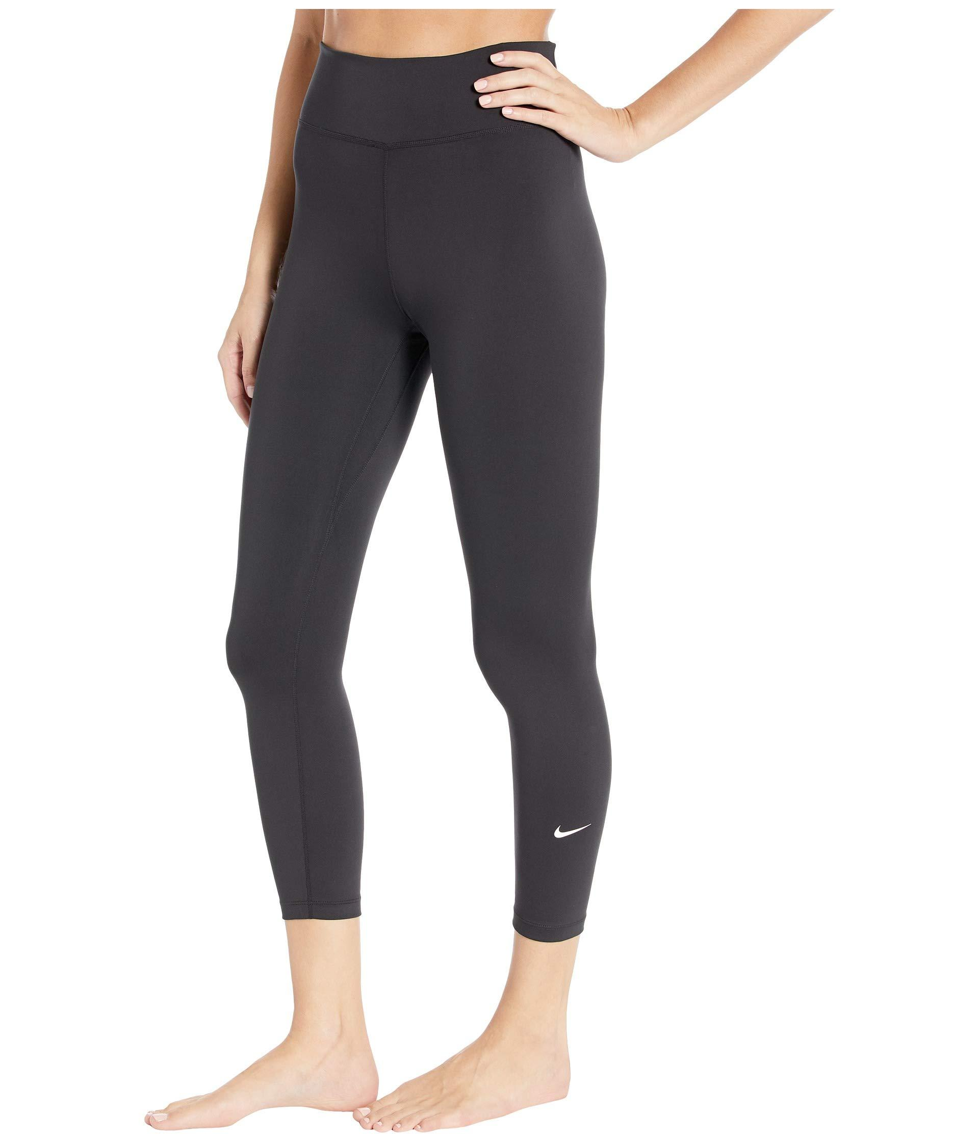 f1e3d53a0df45 Nike One Crop Pants (black/white) Women's Casual Pants in Black - Lyst