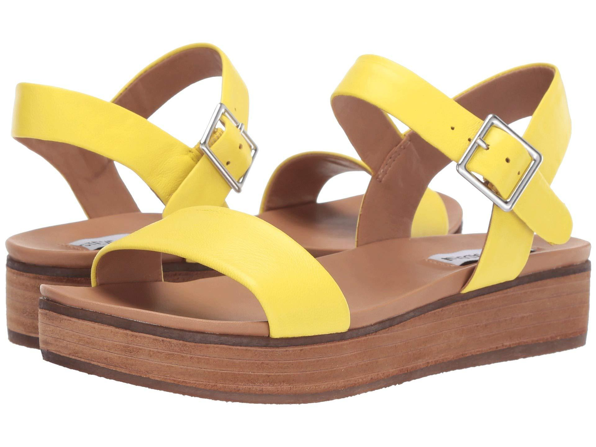 06a346b41a8 Lyst - Steve Madden Aida (natural Snake) Women s Shoes in Yellow