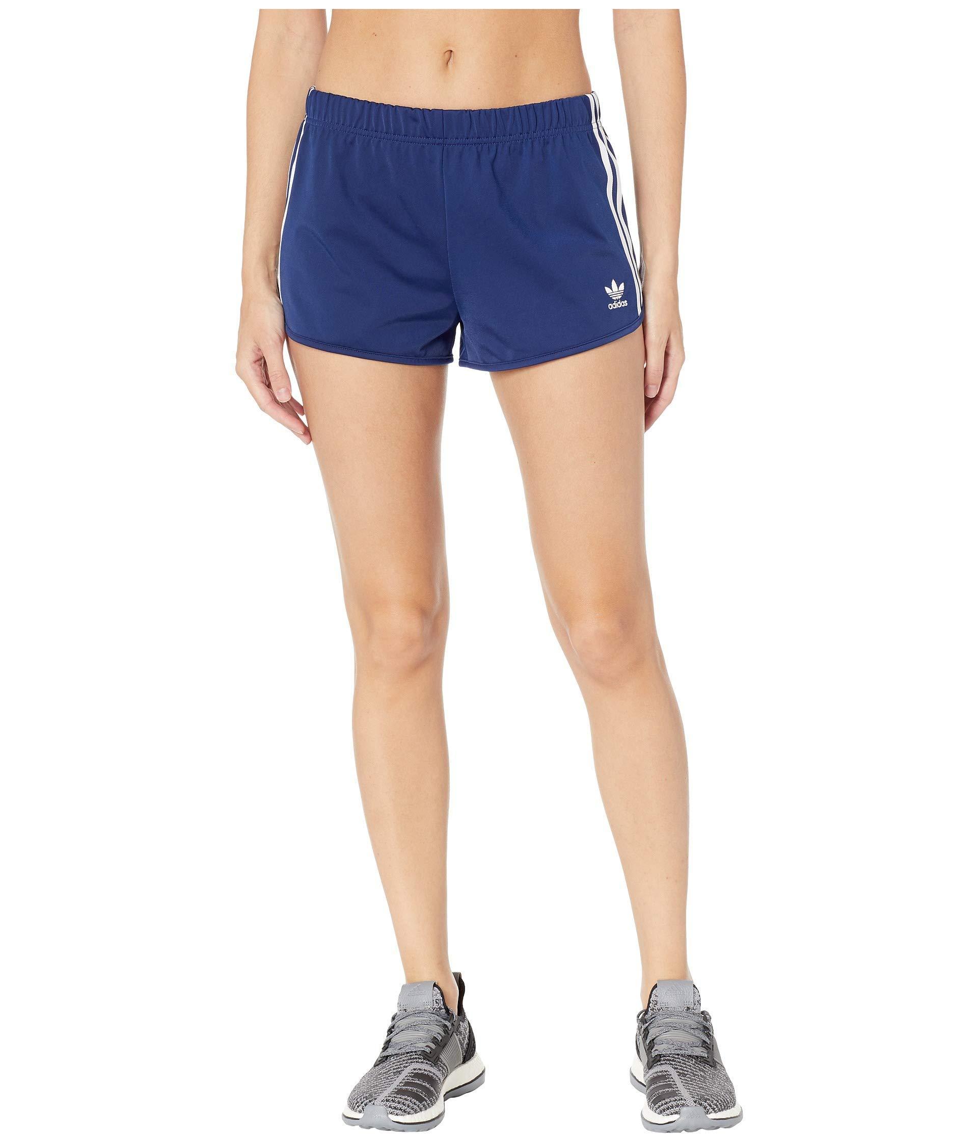 e58f25626 adidas Originals 3-stripes Shorts (purple Glow) Women's Shorts in ...