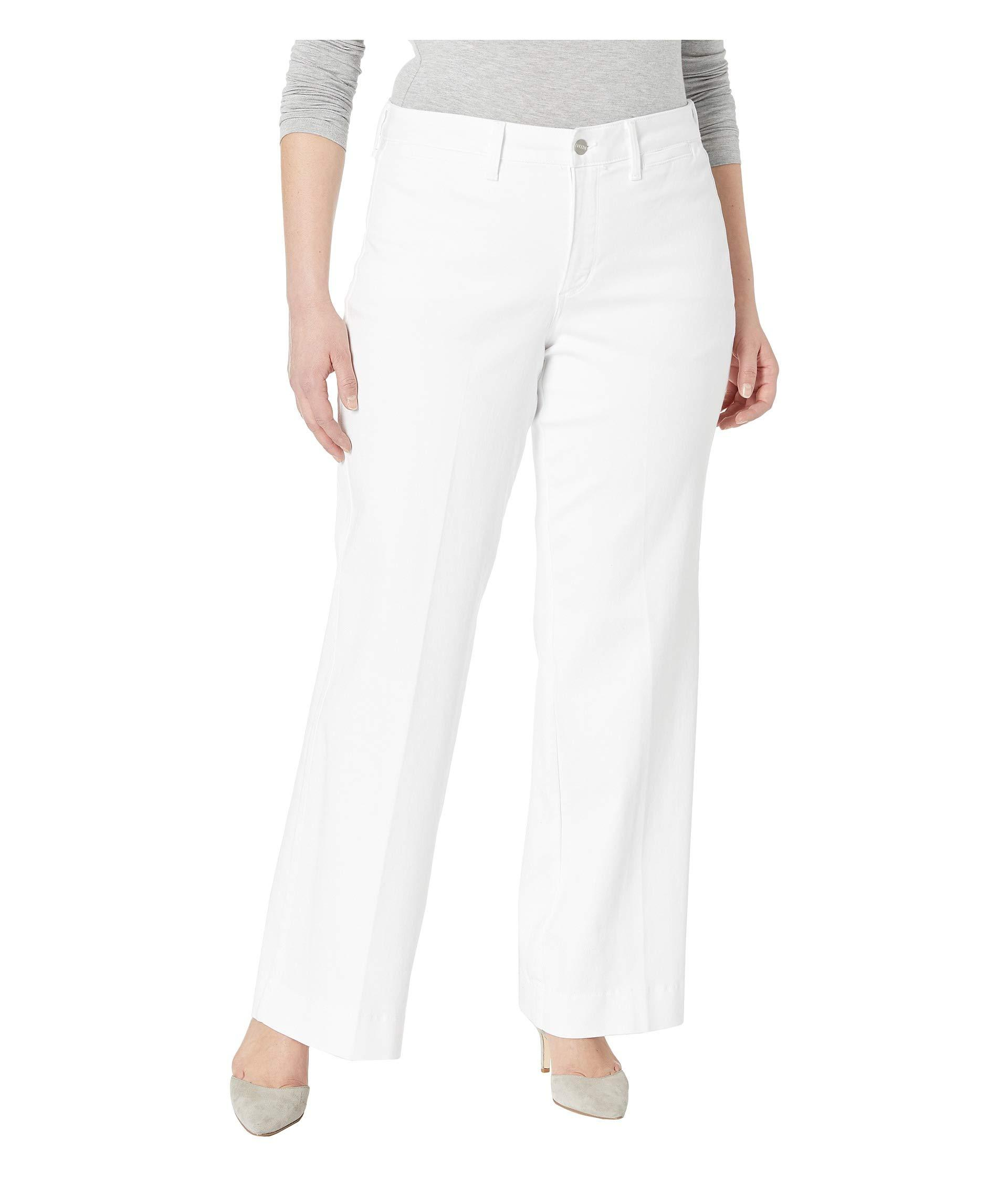 f551e582399e0 NYDJ. Plus Size Teresa Trousers In Optic White (optic White) Women s Jeans