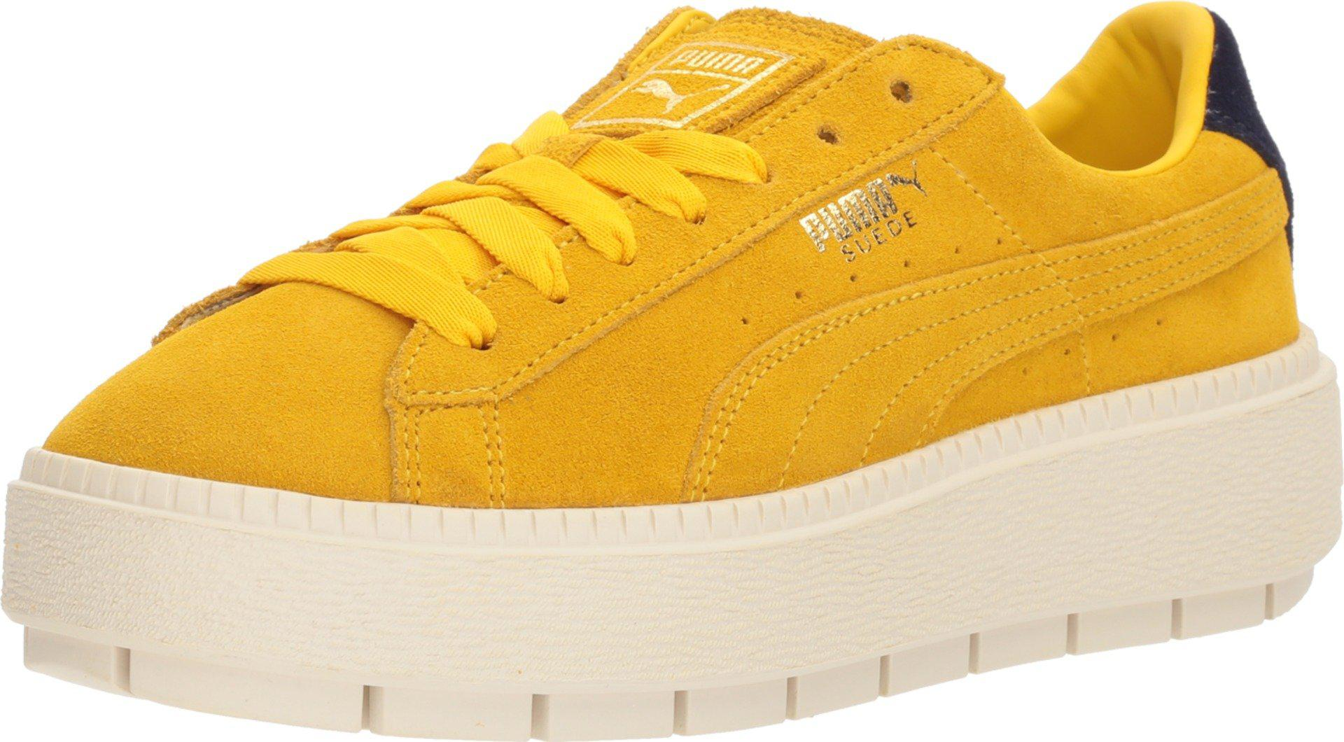 8193b12bf96a Lyst - PUMA Suede Platform Trace Bold in Yellow