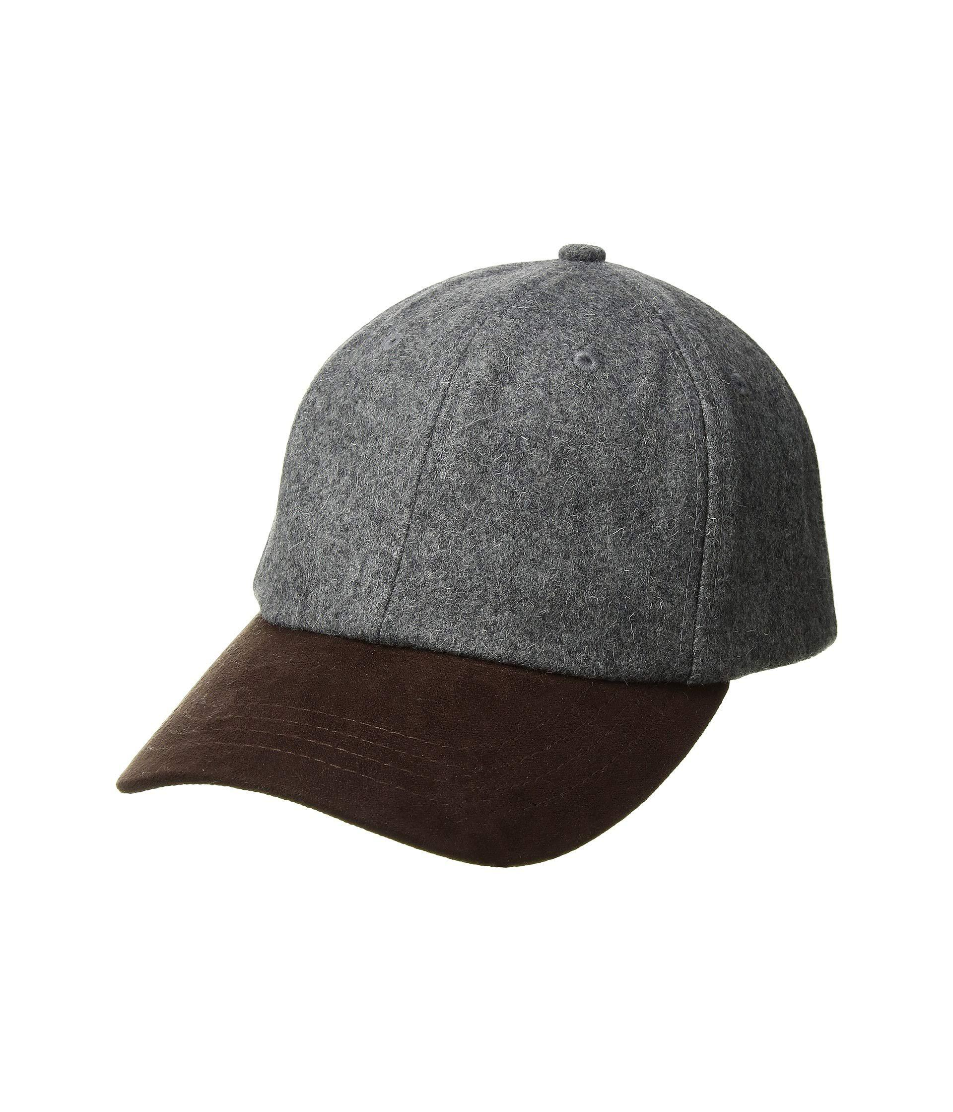 fd3648b0cef San Diego Hat Company. Men s Gray Cth1502 Wool Crown And Faux Suede Brim  Baseball ...