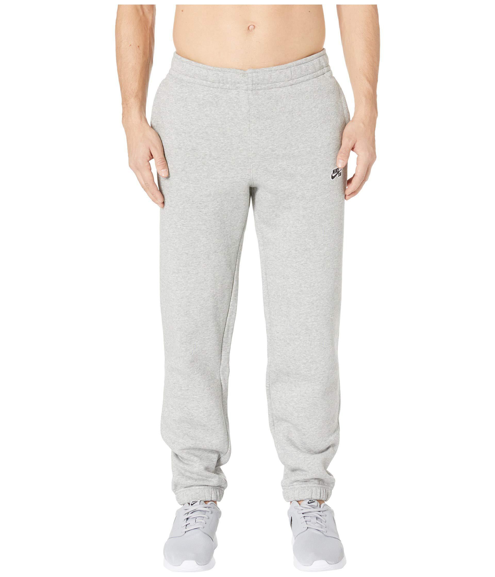 fa28269b00ac Lyst - Nike Sb Icon Fleece Essential Pants (dark Grey Heather black ...