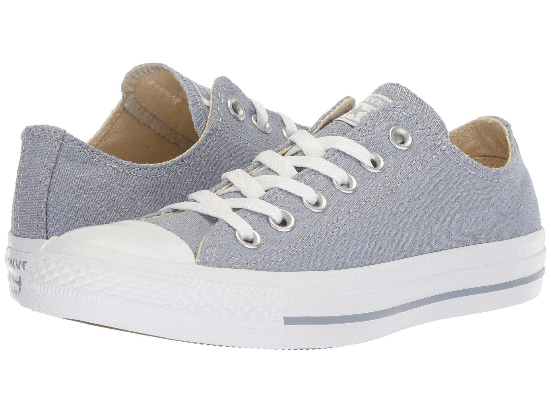 b1560341a1af Lyst - Converse Chuck Taylor® All Star® Ox - Perf Canvas in White