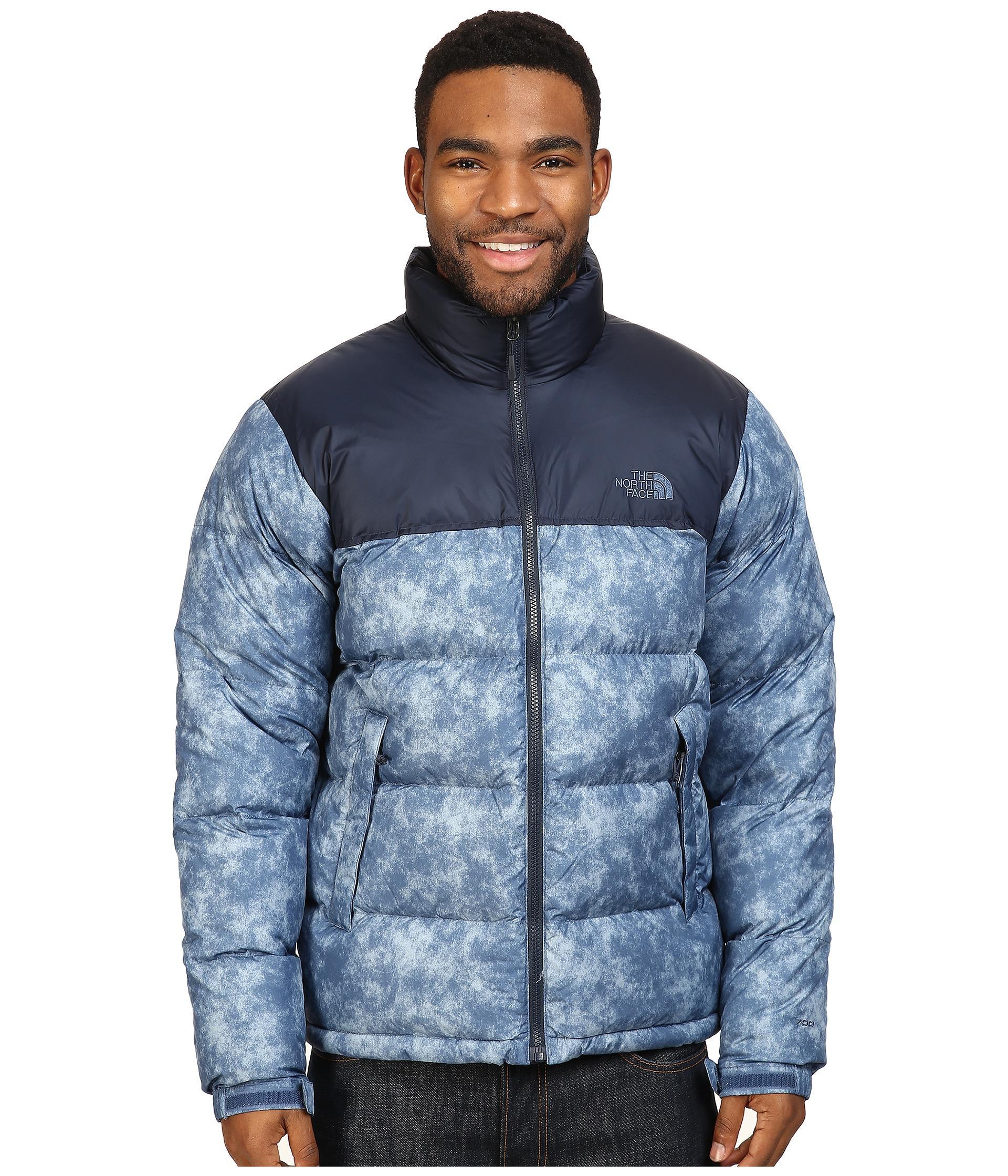 the north face nuptse jacket in blue for men lyst. Black Bedroom Furniture Sets. Home Design Ideas