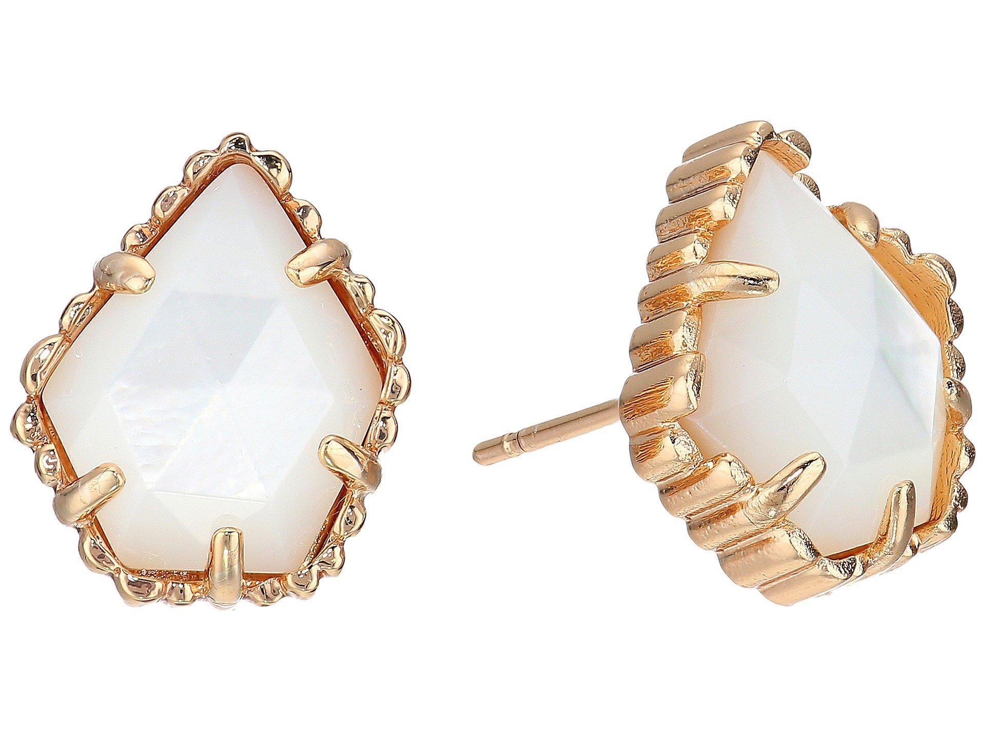 8156415de Kendra Scott. Women's Metallic Tessa Earring (rhodium Platinum Drusy)  Earring