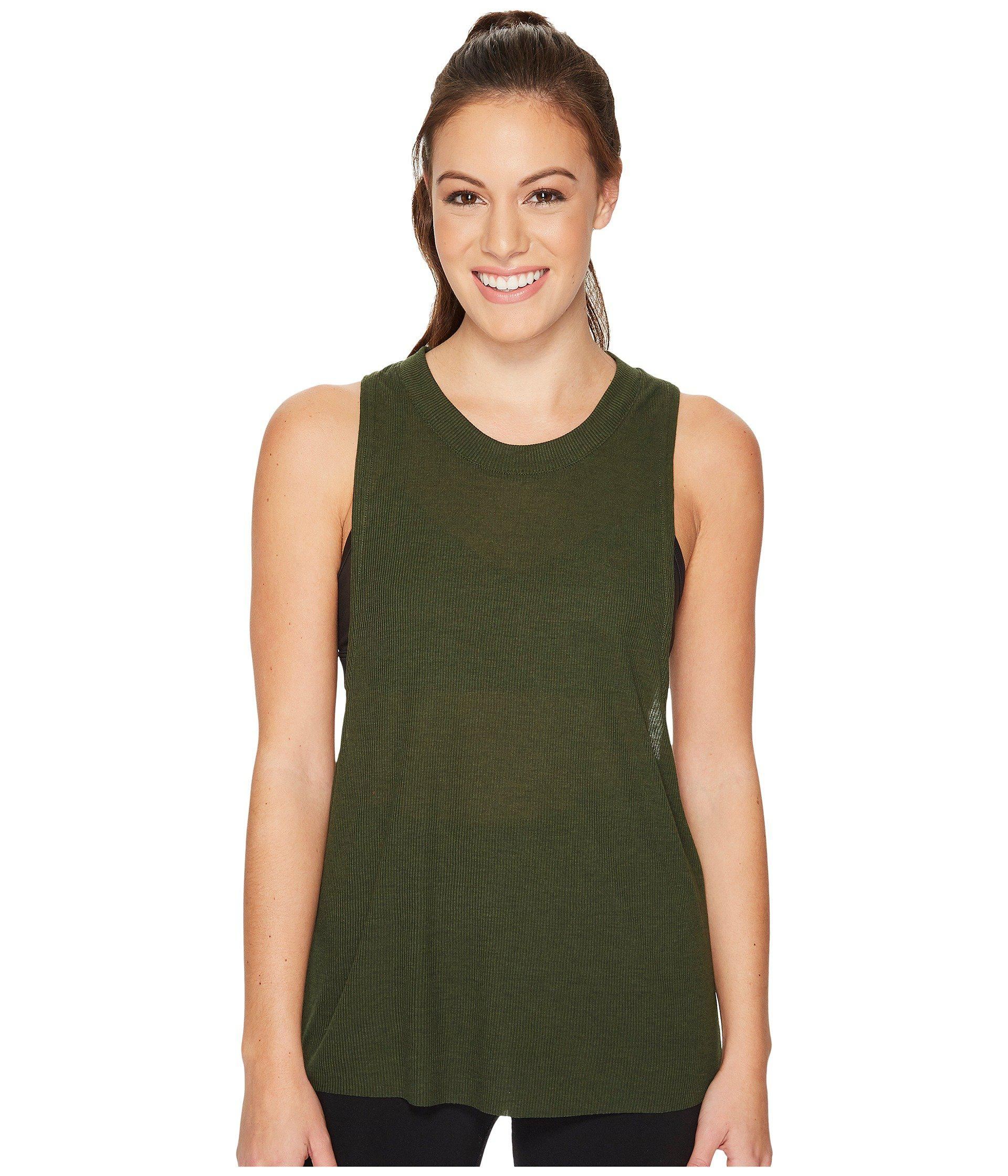 8927f29ee573c Lyst - Alo Yoga Heat-wave Tank Top (pistachio) Women s Sleeveless in ...