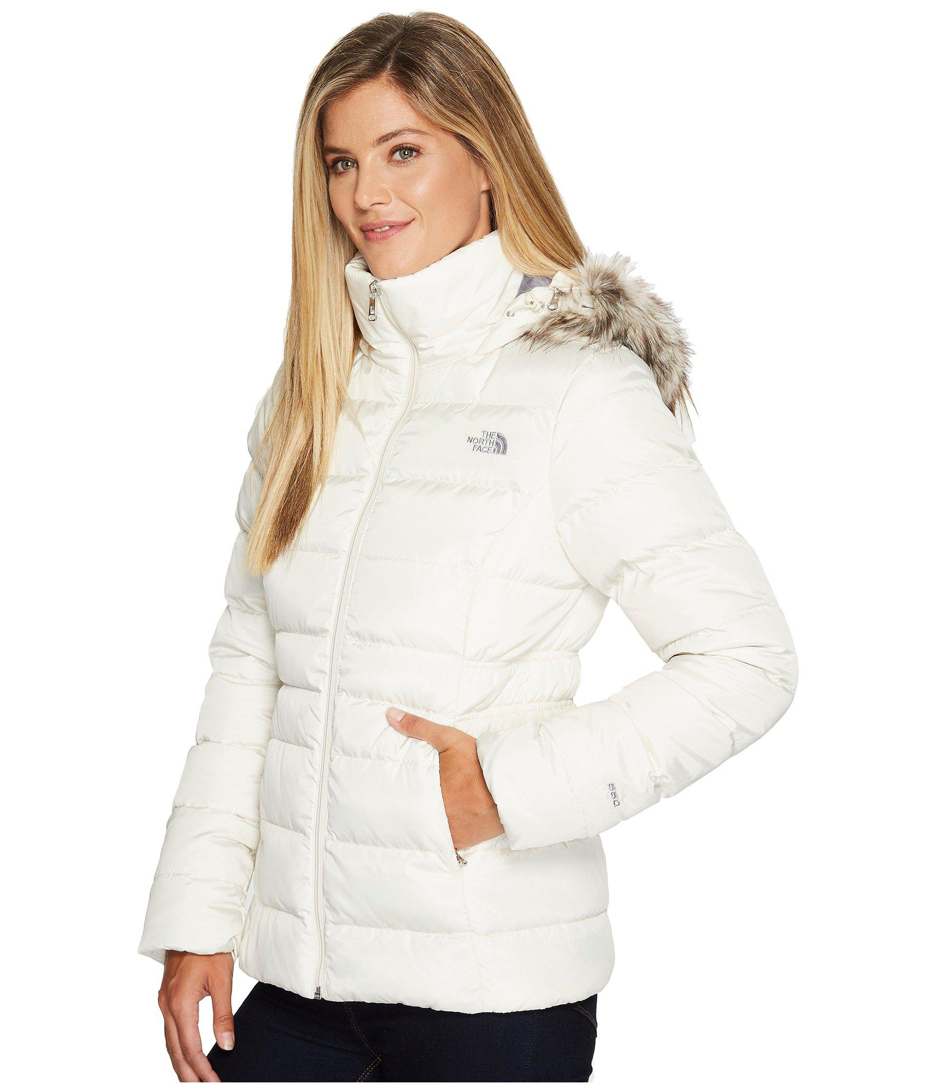272a5b225f Lyst - The North Face Gotham Jacket Ii (metallic Copper) Women s Coat in  White