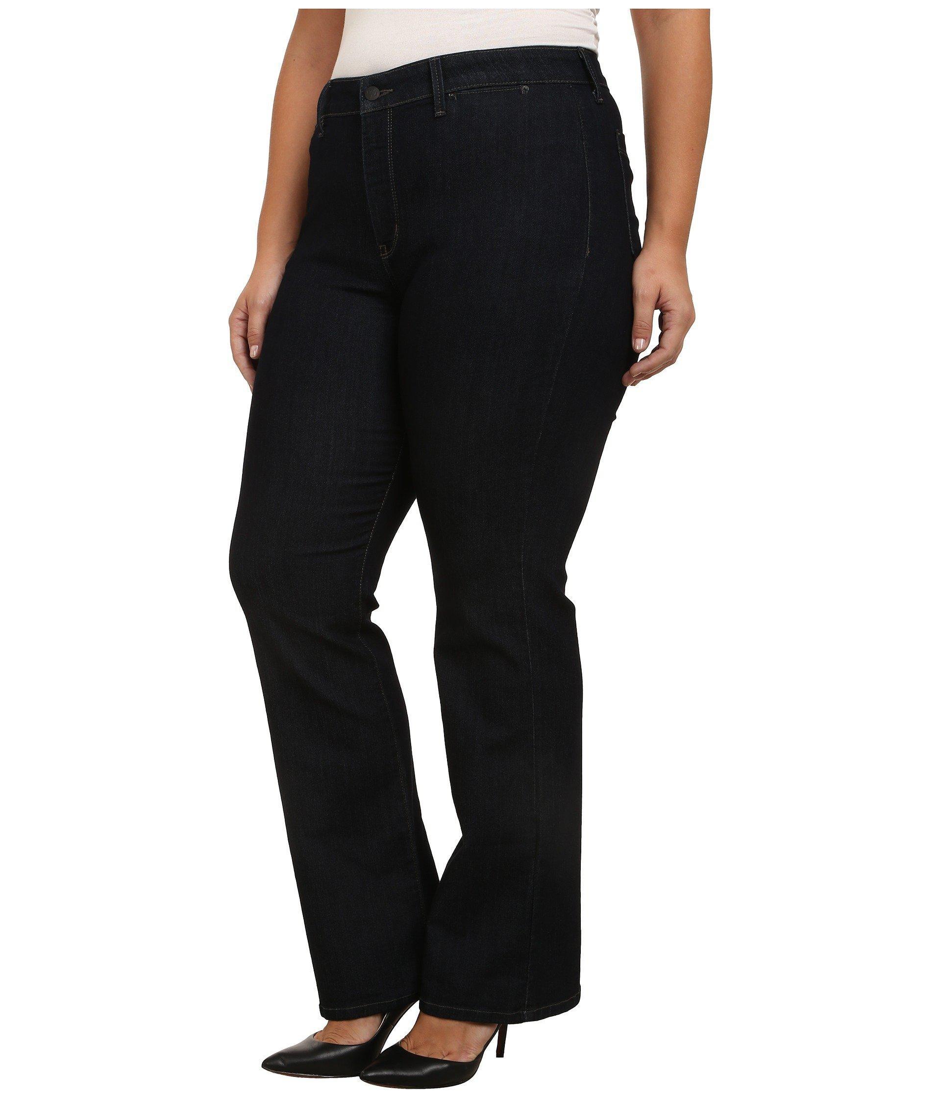 35a7b3f99797f Lyst - NYDJ Plus Size Isabella Trouser In Dark Enzyme (dark Enzyme) Women s  Jeans in Black