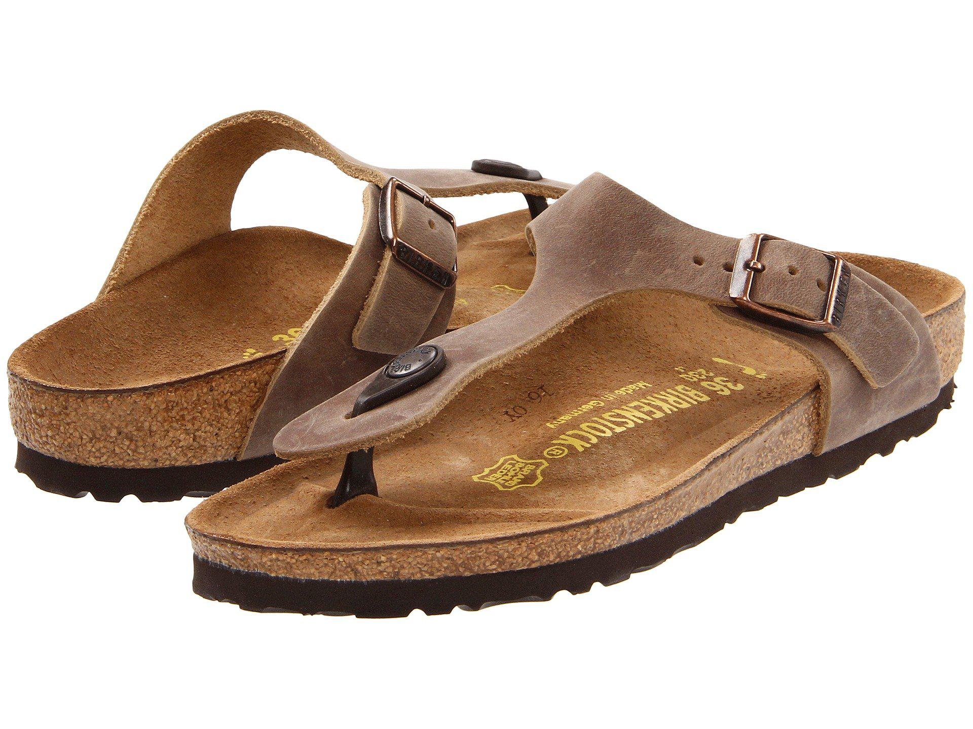 c5969169264 Birkenstock. Brown Gizeh Oiled Leather (tobacco Oiled Leather) Women s  Sandals