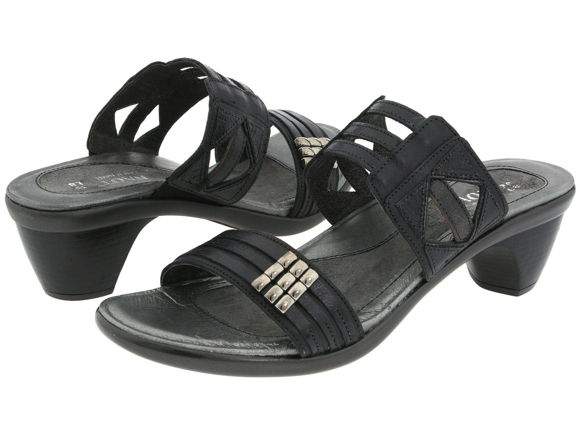 21c849dd3f19 Naot. Afrodita (jet Black black Gloss black Pearl Leather) Women s Sandals