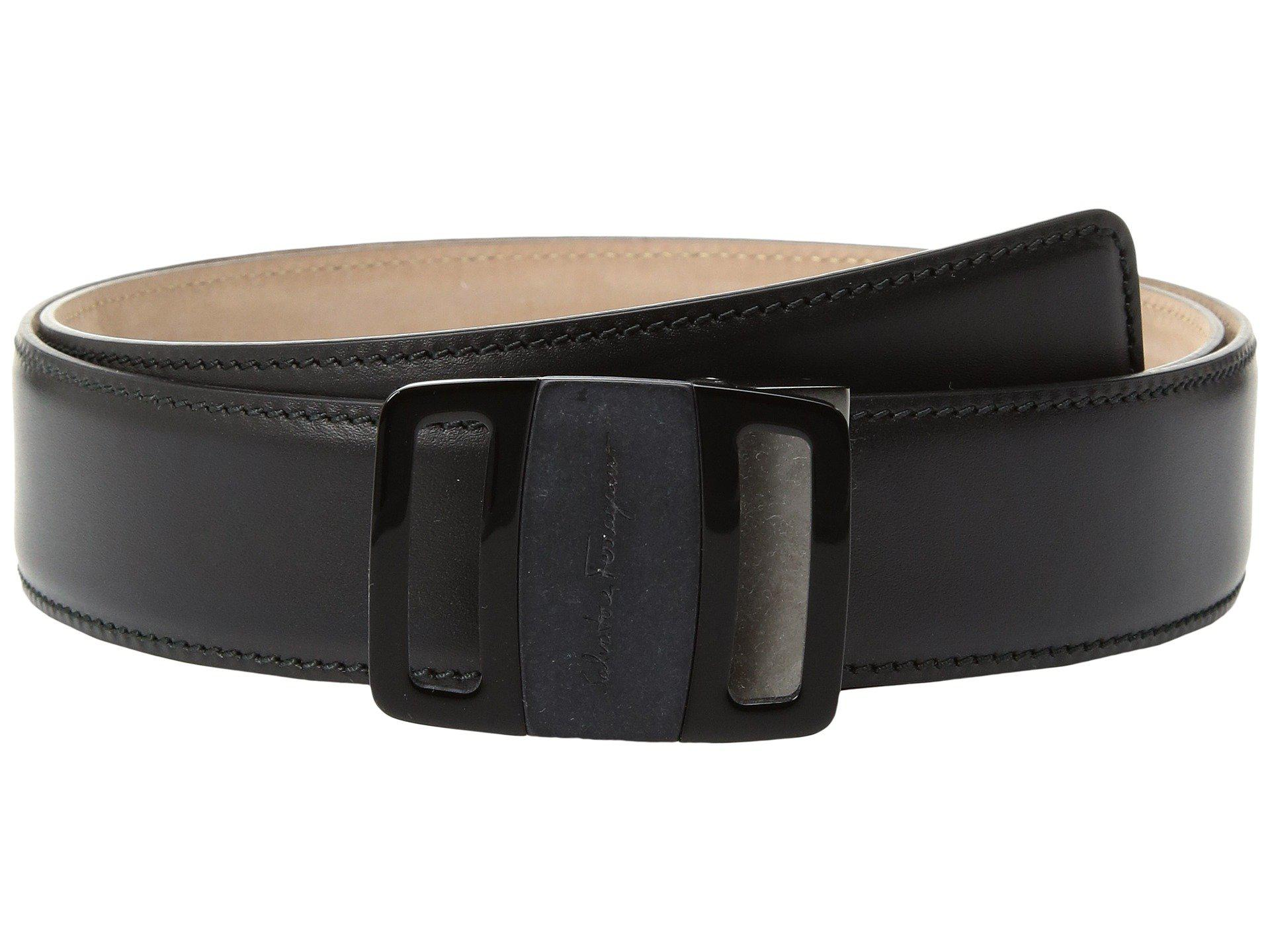 7fd36a9648853 ... spain lyst ferragamo vara buckle belt 679775 in black for men 8a1b8  78144